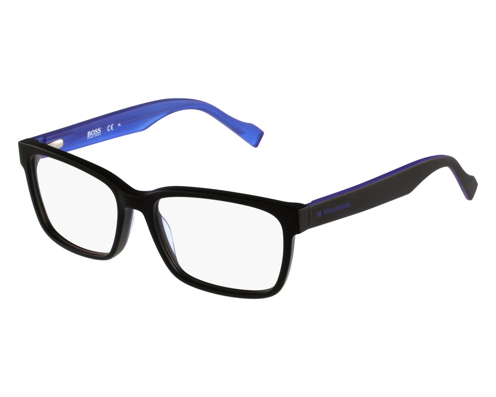 13b0ffa0490 eyeglasses Boss Orange BO-0182 K0P 53-16 Black Blue front view