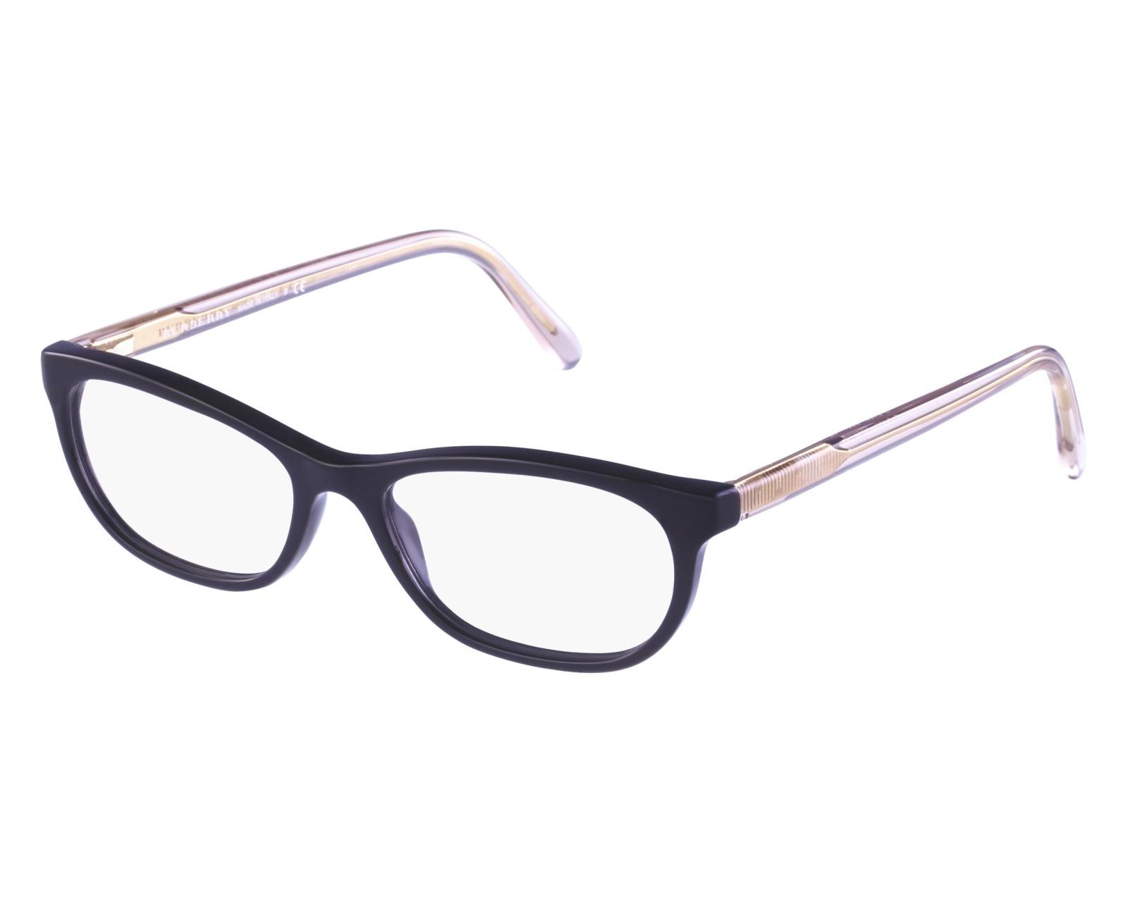 e365e74378 eyeglasses Burberry BE-2180 3507 52-16 Black Gold front view
