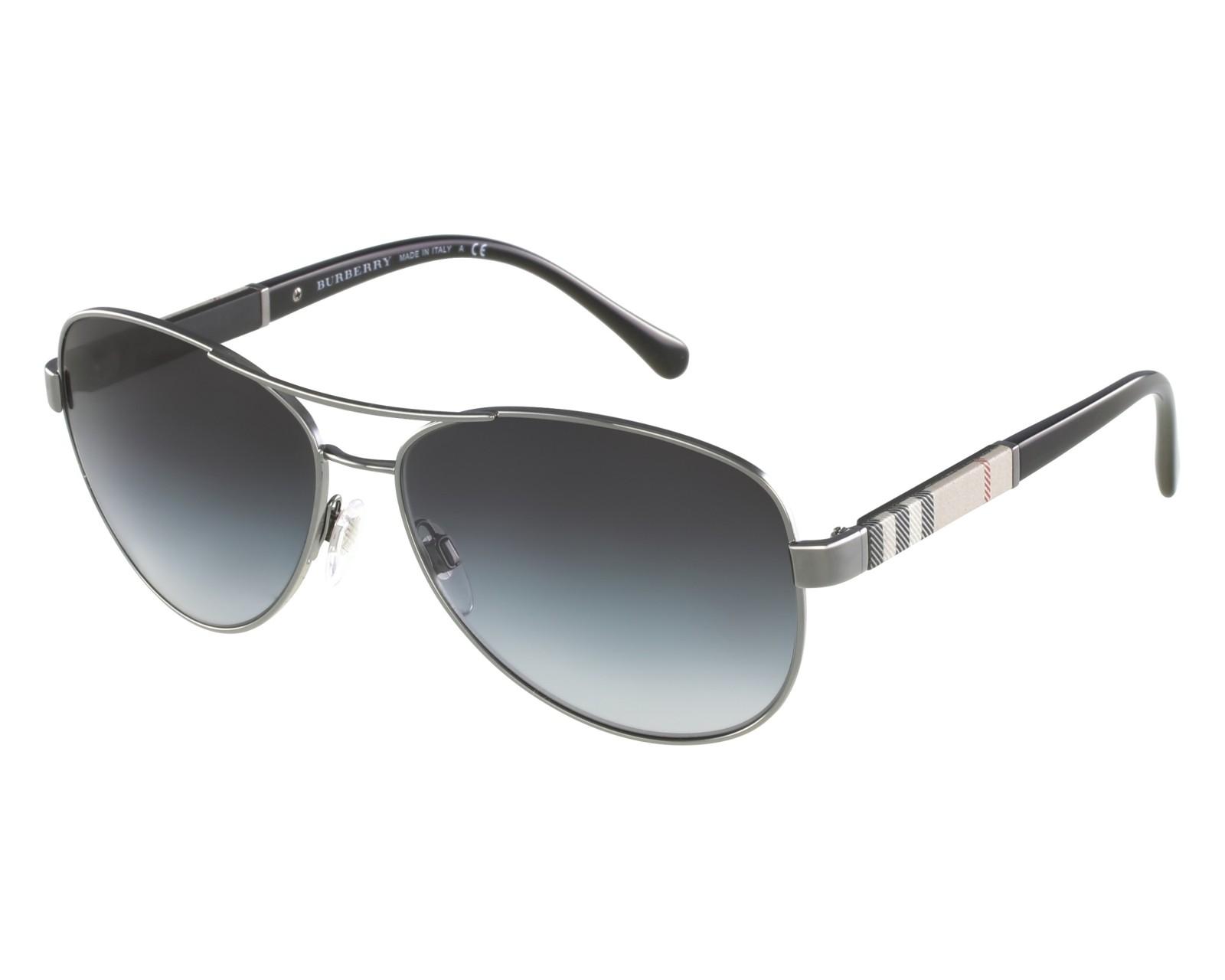 b9ec1a585d3 Sunglasses Burberry BE-3080 1003 8G 59-14 Silver Beige front view