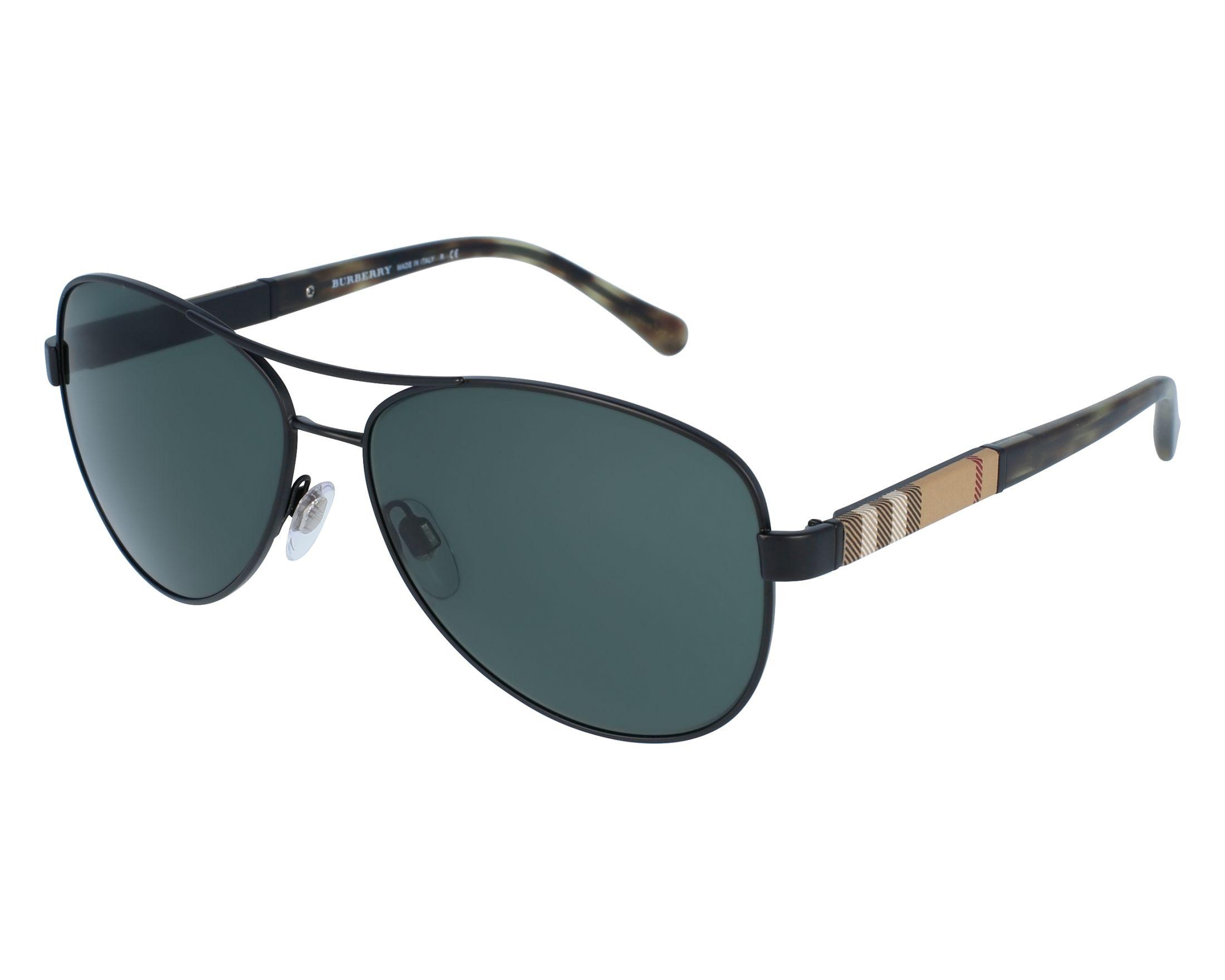 6da6a81e300 Sunglasses Burberry BE-3080 123371 59-14 Black Beige front view