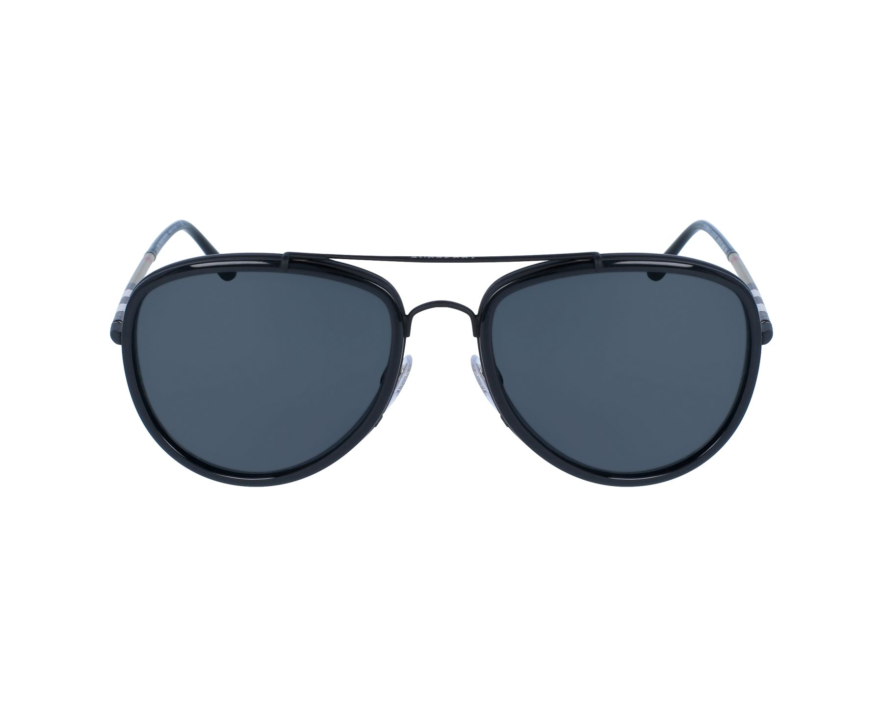 844cb1e1f7e thumbnail Sunglasses Burberry BE-3090-Q 1213 87 - Black Black profile view