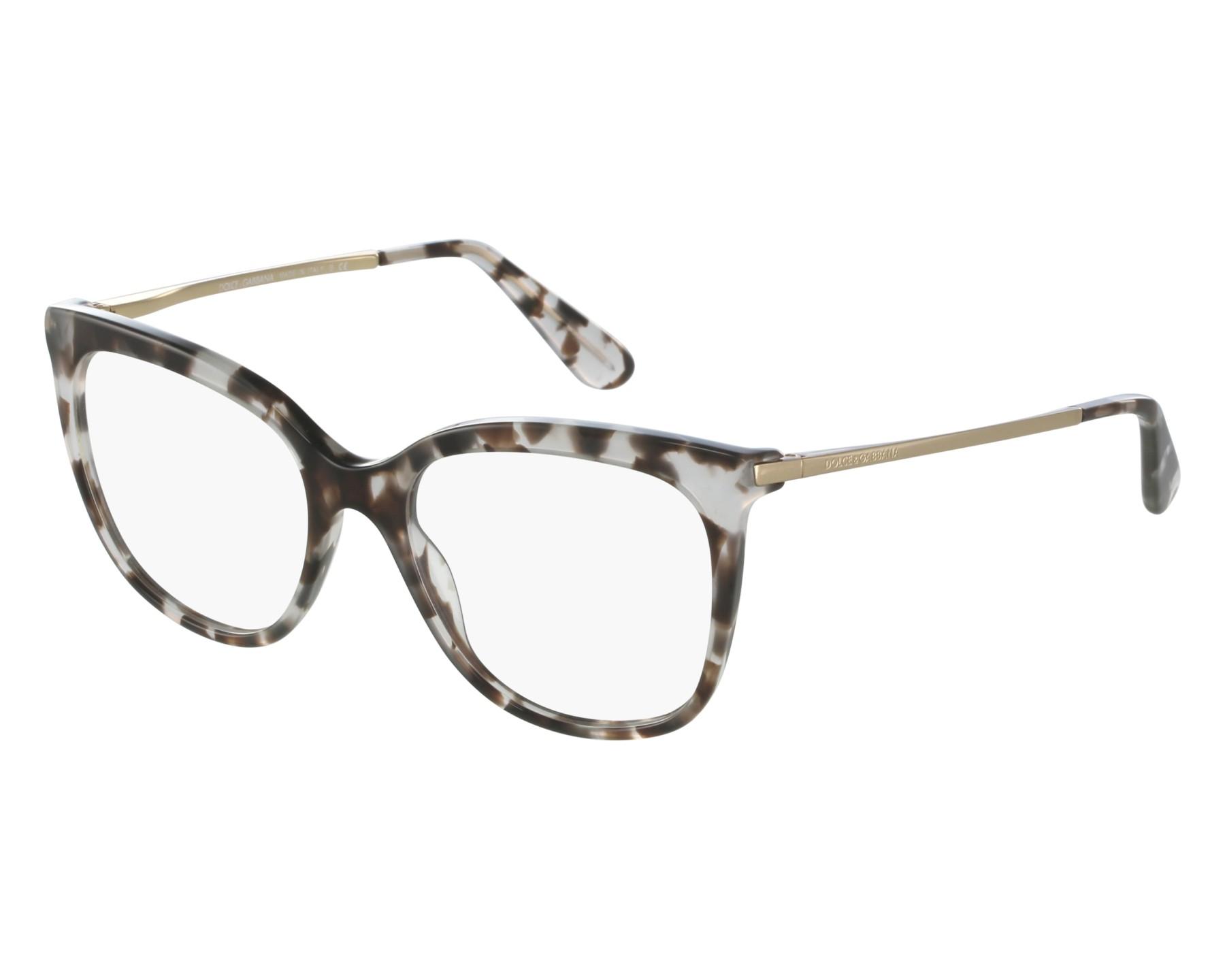 2142e2eaf1d eyeglasses Dolce   Gabbana DG-3259 2888 53-17 Grey Gold front view