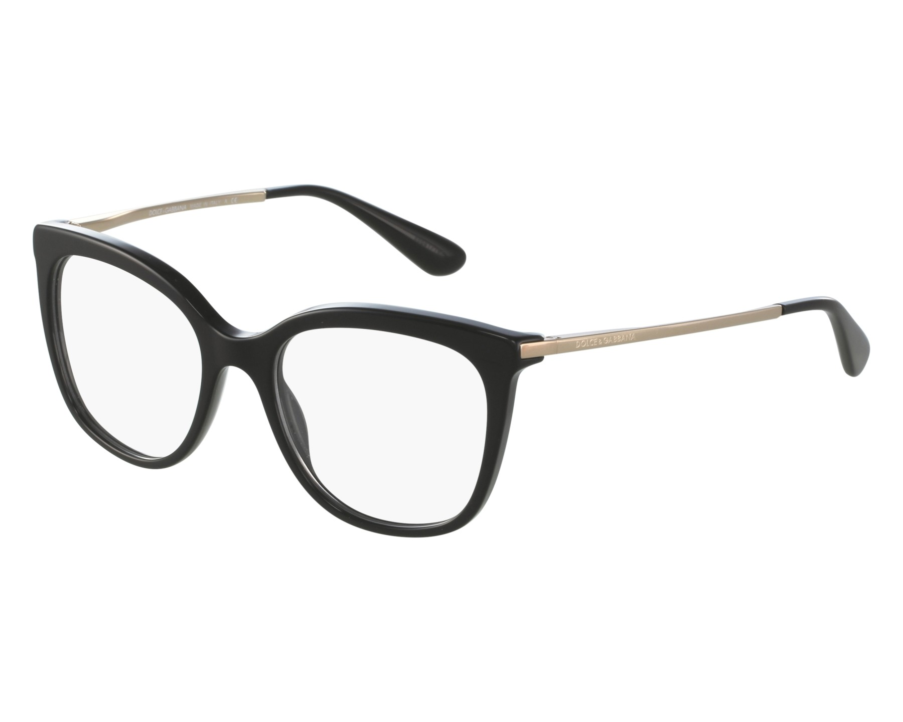 50028cfa55c eyeglasses Dolce   Gabbana DG-3259 501 51-17 Black Gold front view