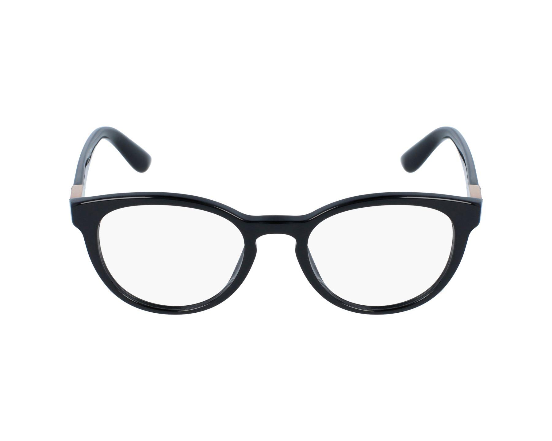 1082dd2002e eyeglasses Dolce   Gabbana DG-3268 501 48-18 Black profile view