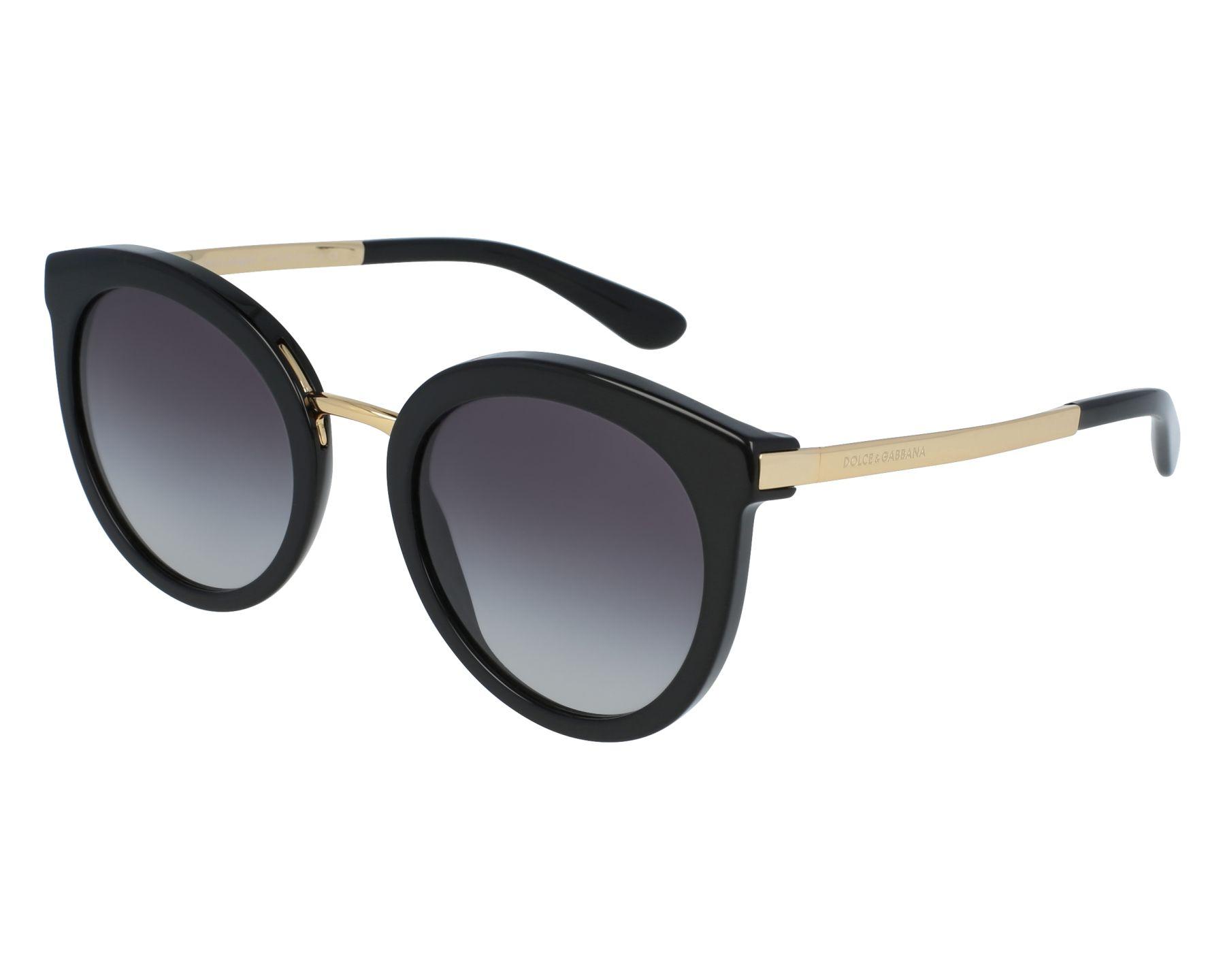 8f528b18d65 Sunglasses Dolce   Gabbana DG-4268 501 8G 52-22 Black Gold front