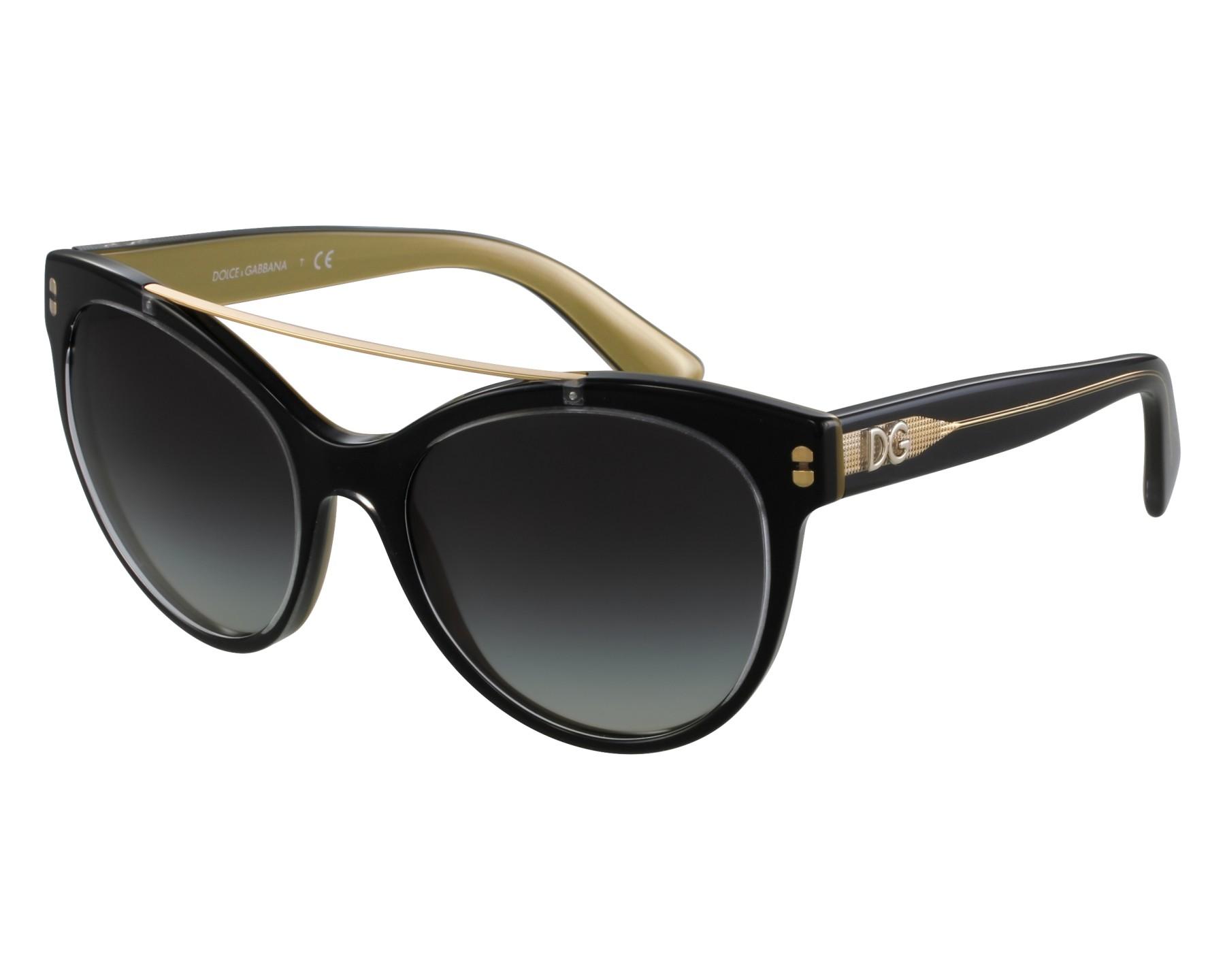 3e4ae0cfd2d3 thumbnail Sunglasses Dolce   Gabbana DG-4280 2955 8G - Grey Gold front view