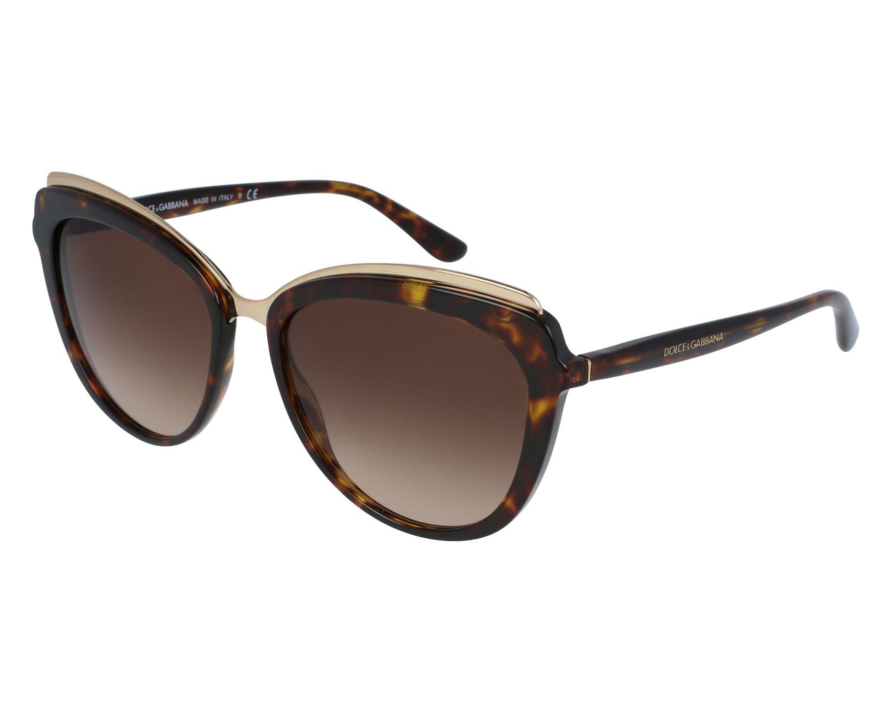 Authentic DOLCE /& GABBANA Womens Vintage Sunglasses GOLD DG 4304 502//13 28587
