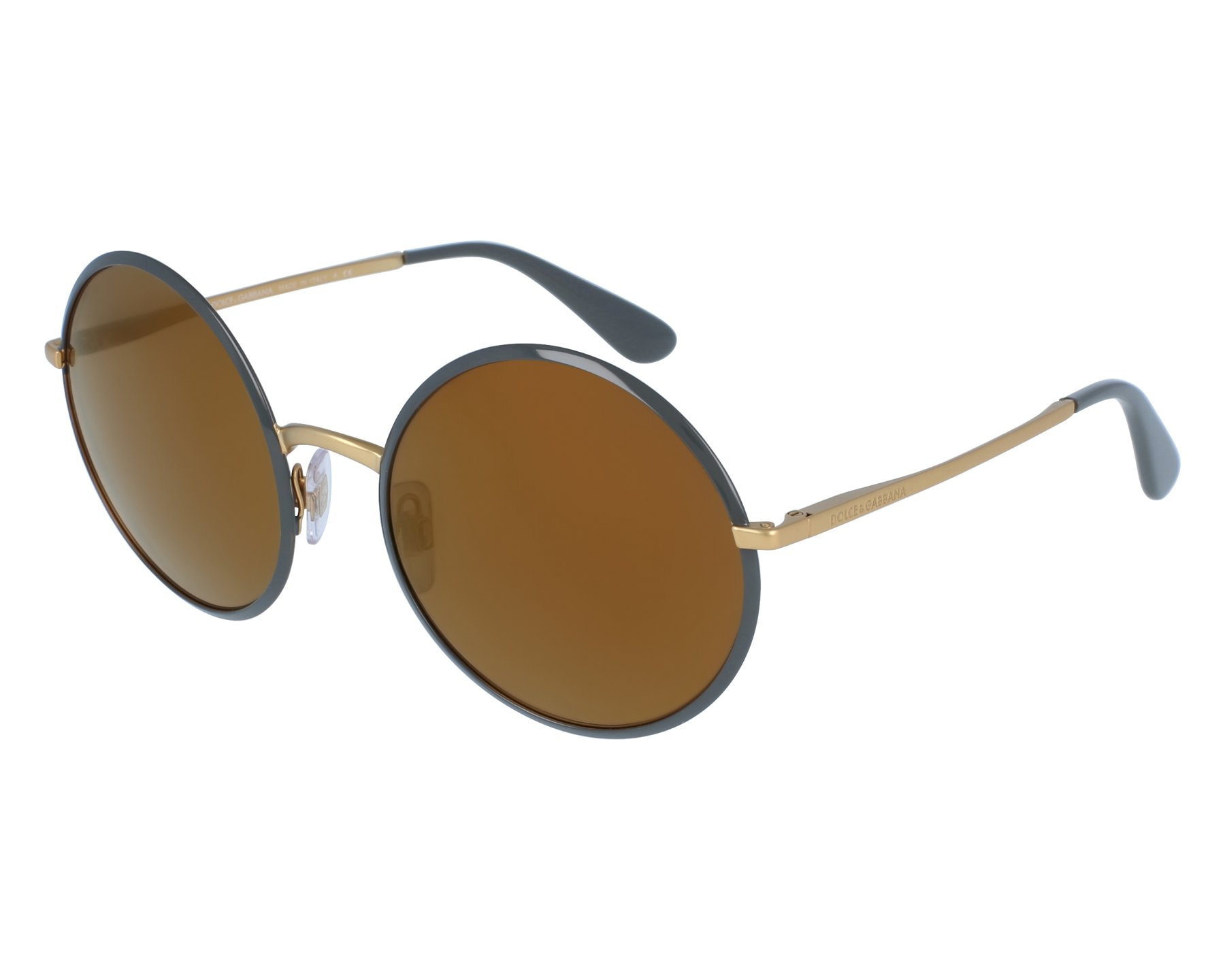 54aaa18bd3a Sunglasses Dolce   Gabbana DG-2155 1295 F9 56-20 Grey Gold front
