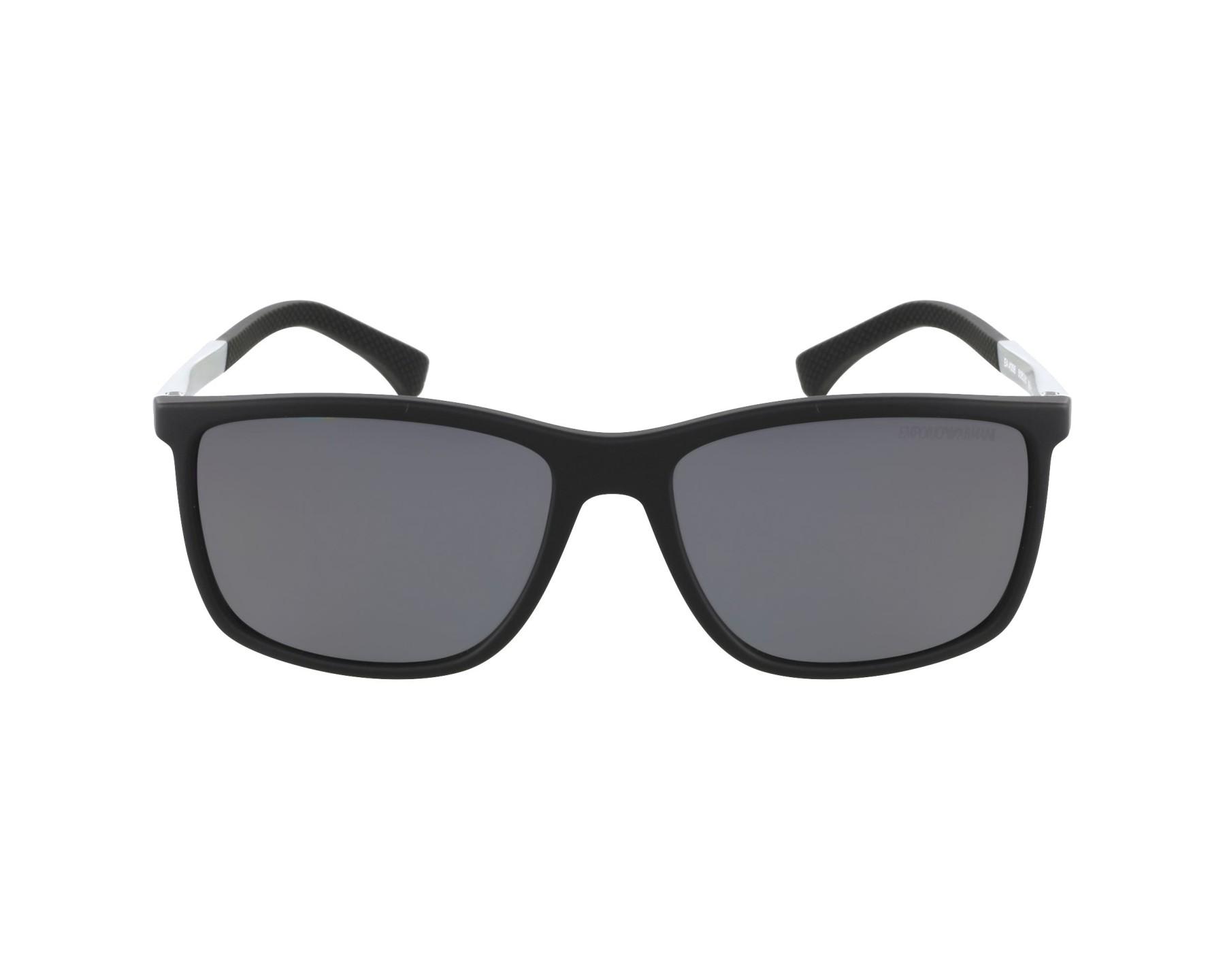 f21355f51a9 Polarized. Sunglasses Emporio Armani EA-4058 5063 81 58-17 Black Silver  profile view