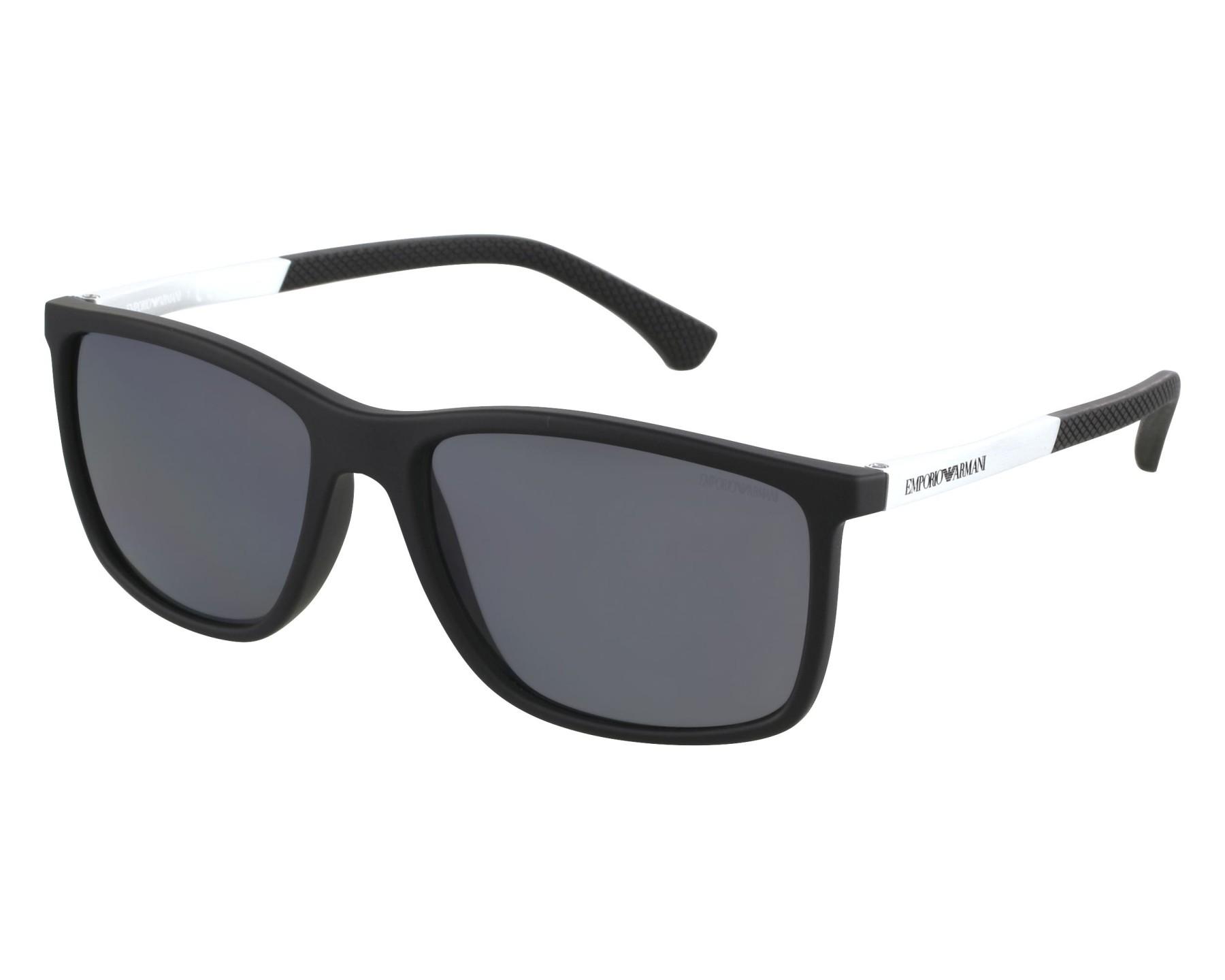 bbb8303eb40 Sunglasses Emporio Armani EA-4058 5063 81 58-17 Black Silver front view