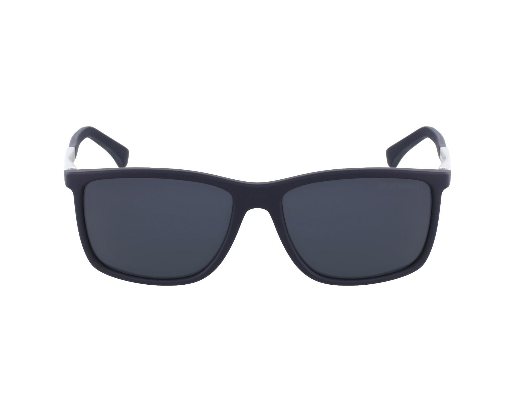 3b4d5930ec357 Sunglasses Emporio Armani EA-4058 5474 87 58-17 Blue Silver profile view