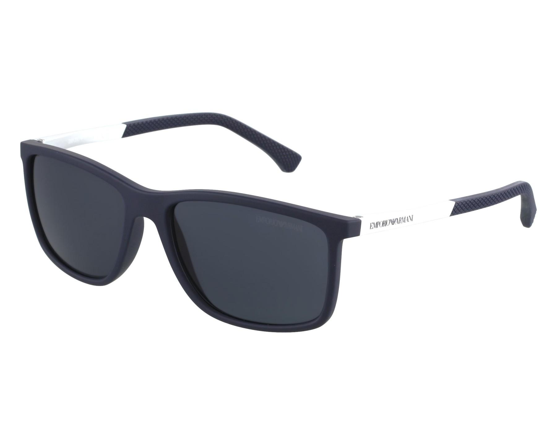 Sunglasses Emporio Armani EA-4058 5474 87 58-17 Blue Silver front view 8bc7a23db1