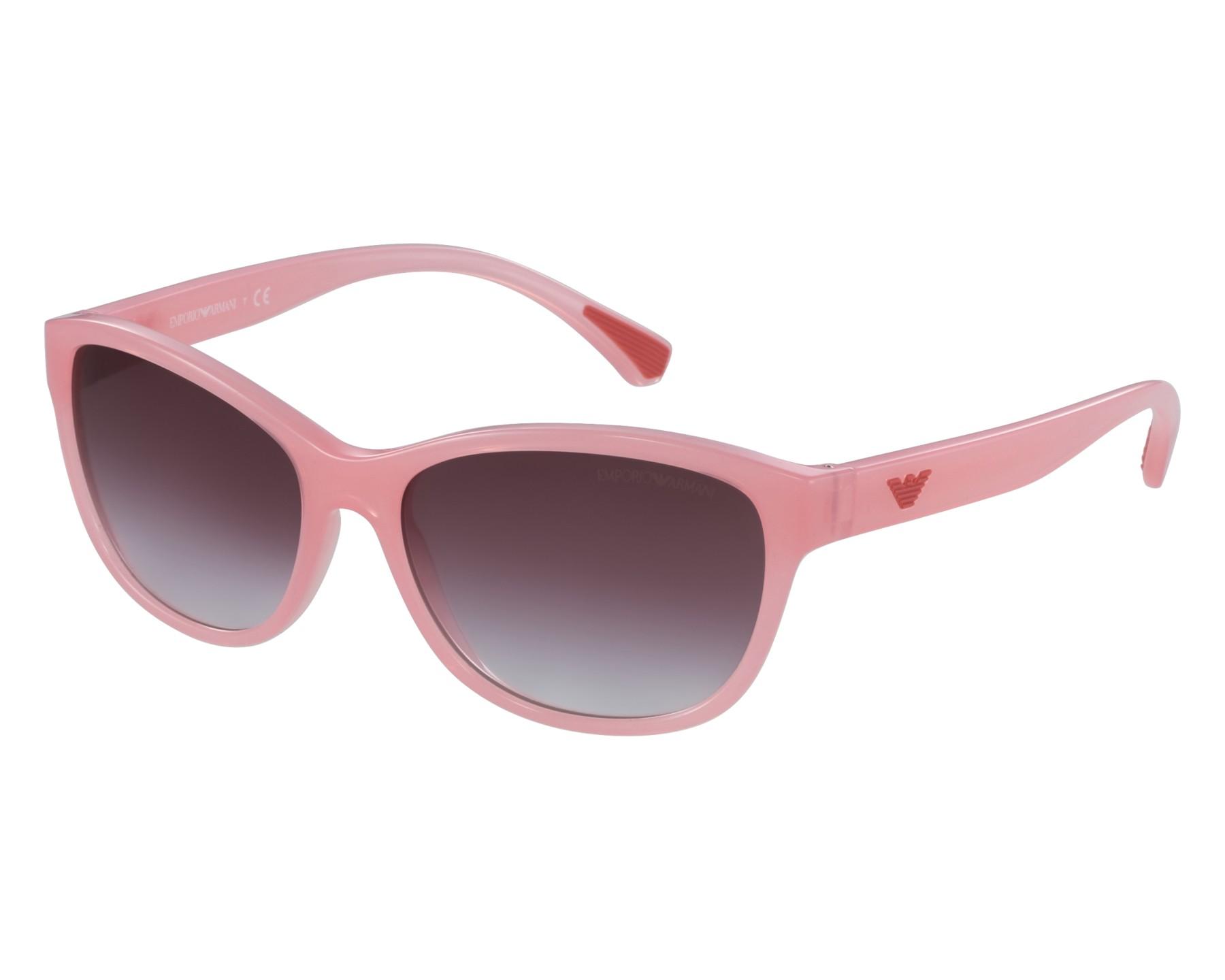 7e1e128b6eec Sunglasses Emporio Armani EA-4080 55078H 57-16 Pink front view