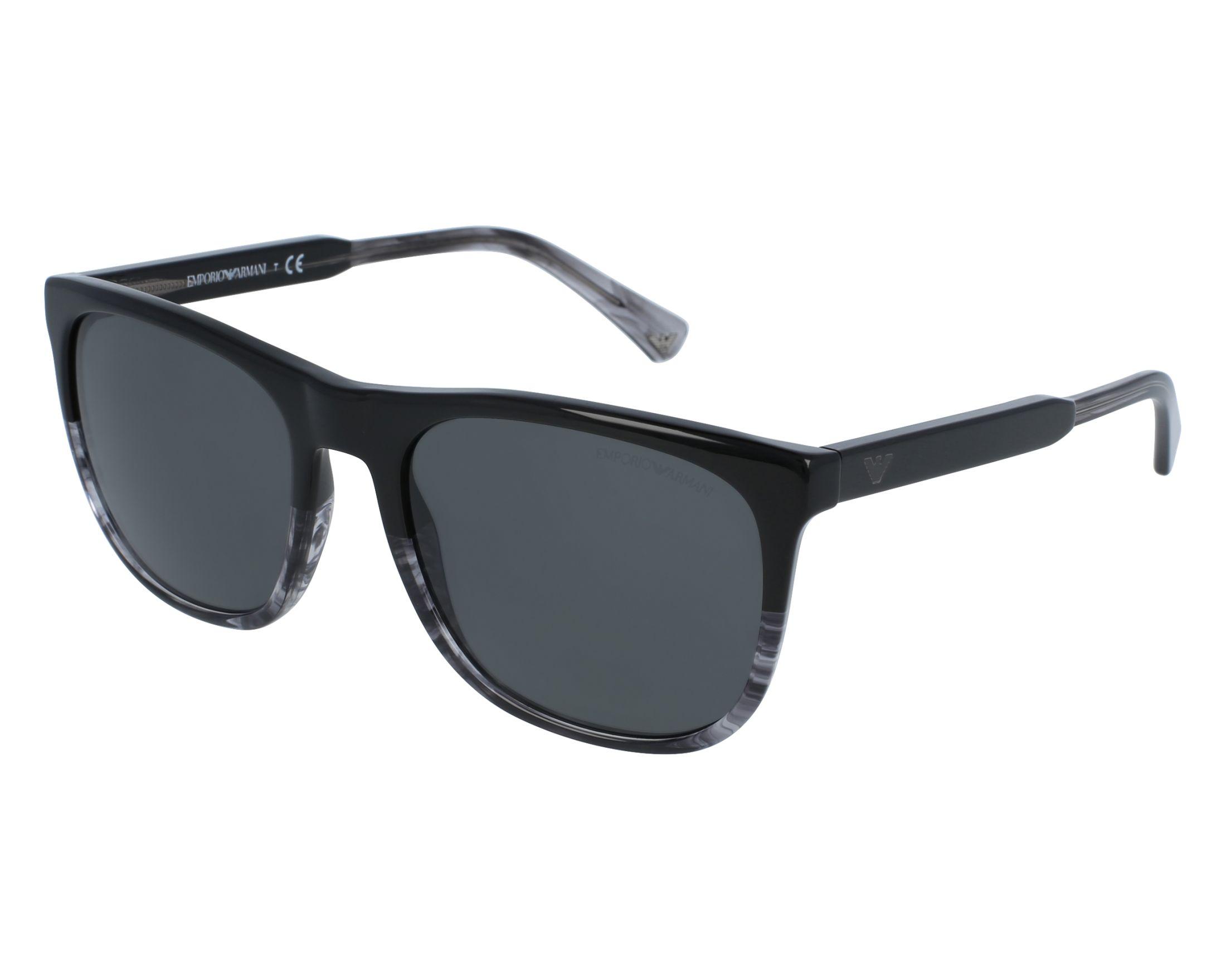 Sunglasses Emporio Armani EA-4099 5566 87 56-19 Black Grey front view 8183bc5b7c
