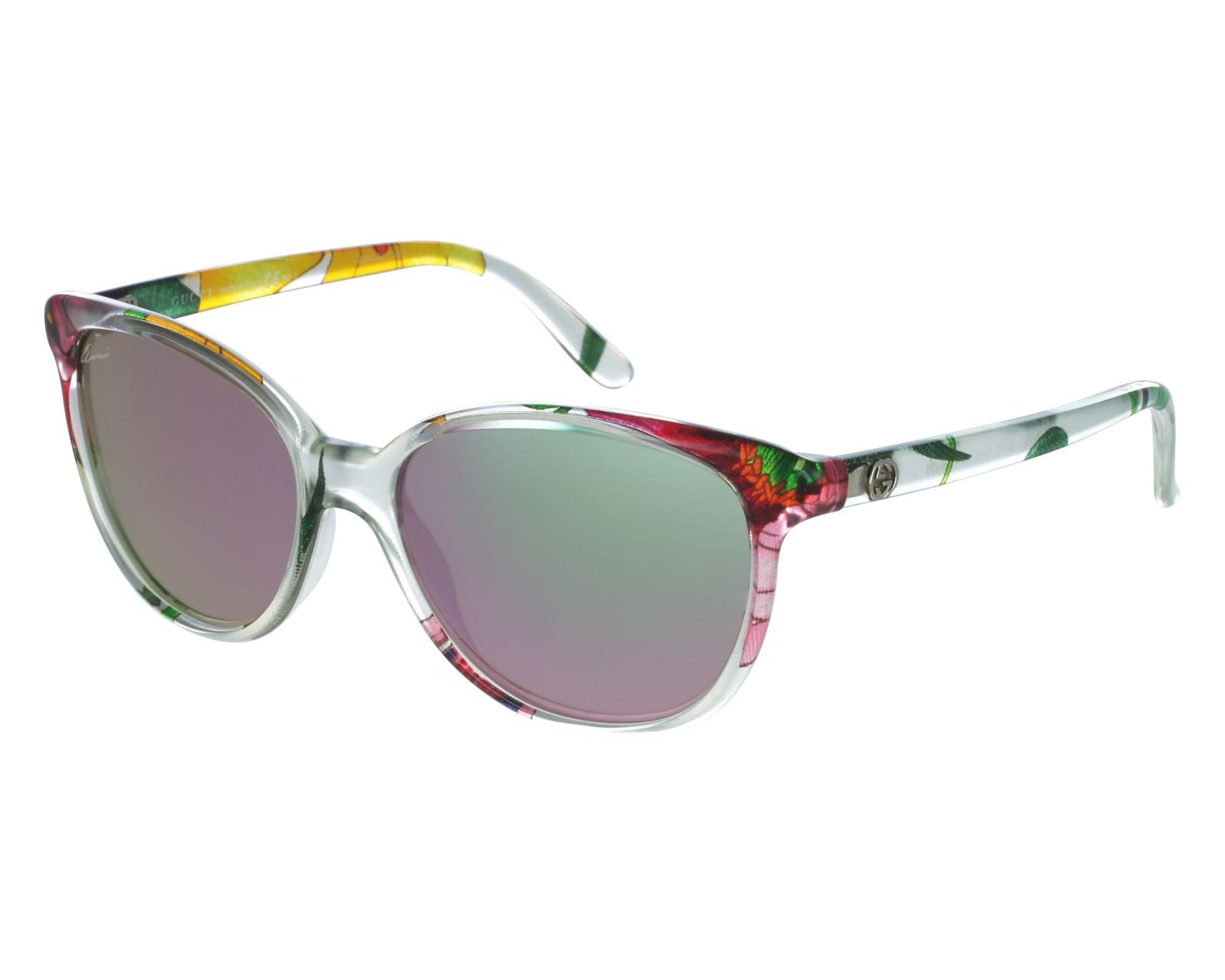 efb8802141 thumbnail Sunglasses Gucci GG-3633-NS ZE5 3E - Crystal front view