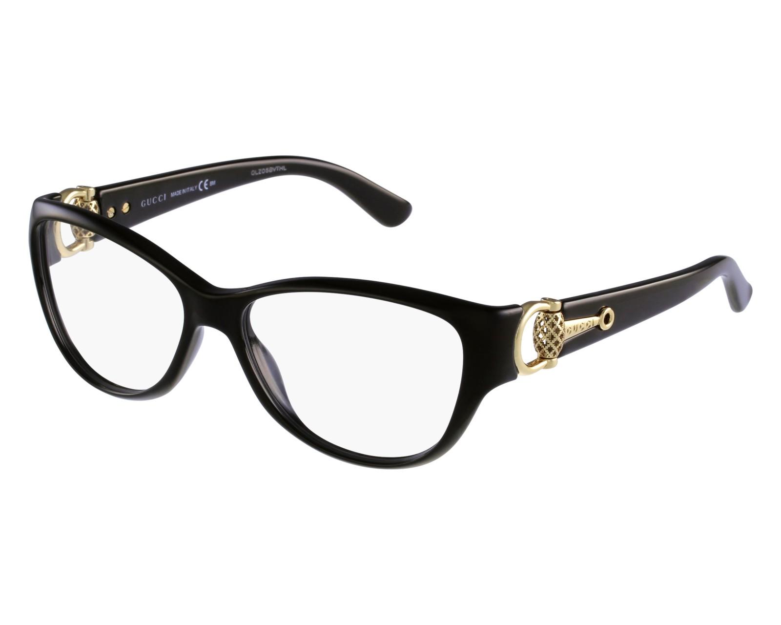 cc48c51f78e eyeglasses Gucci GG-3714 D28 - Black Gold front view