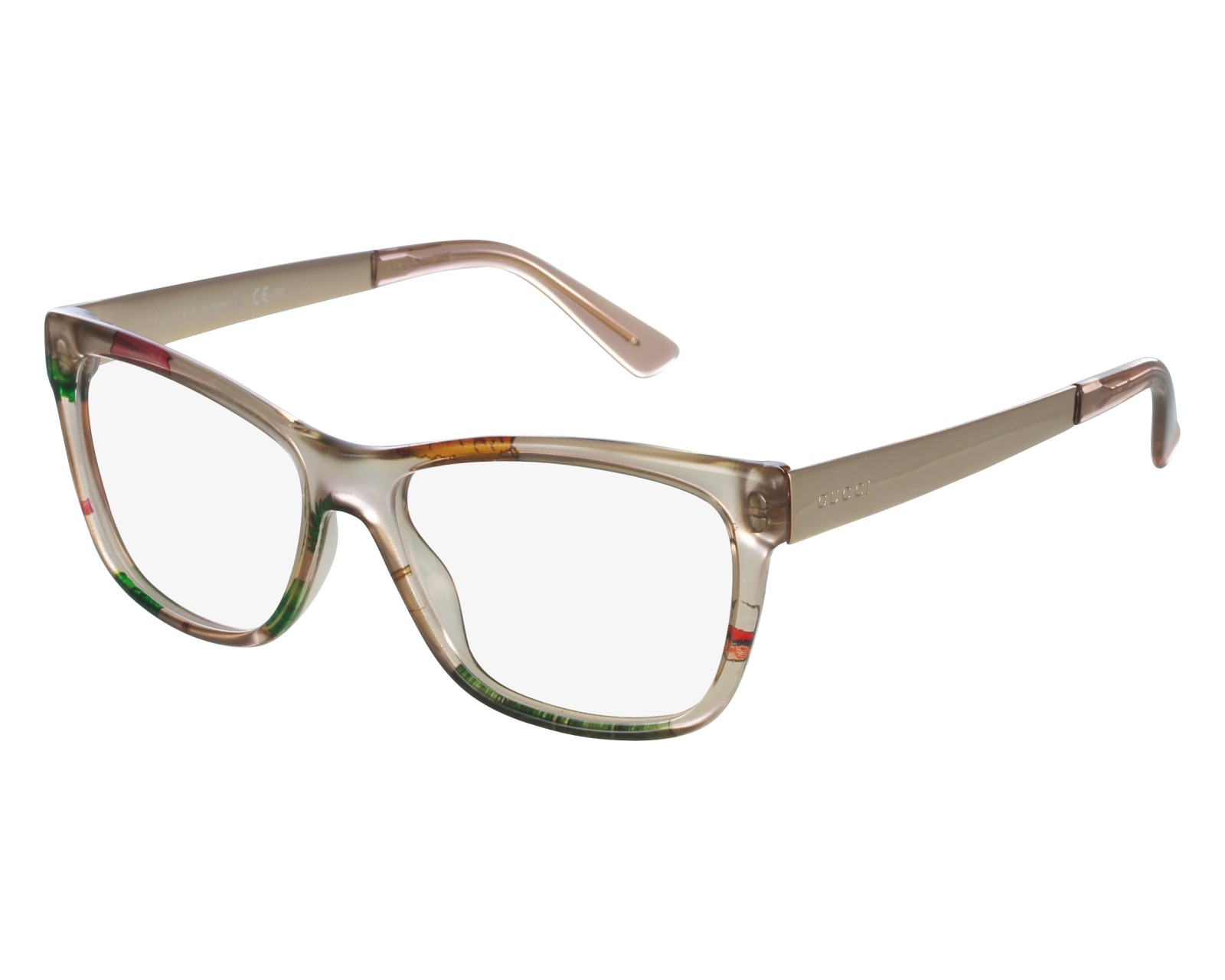 cf2fbe58f3c6d eyeglasses Gucci GG-3741 2FX - Beige Rose gold front view