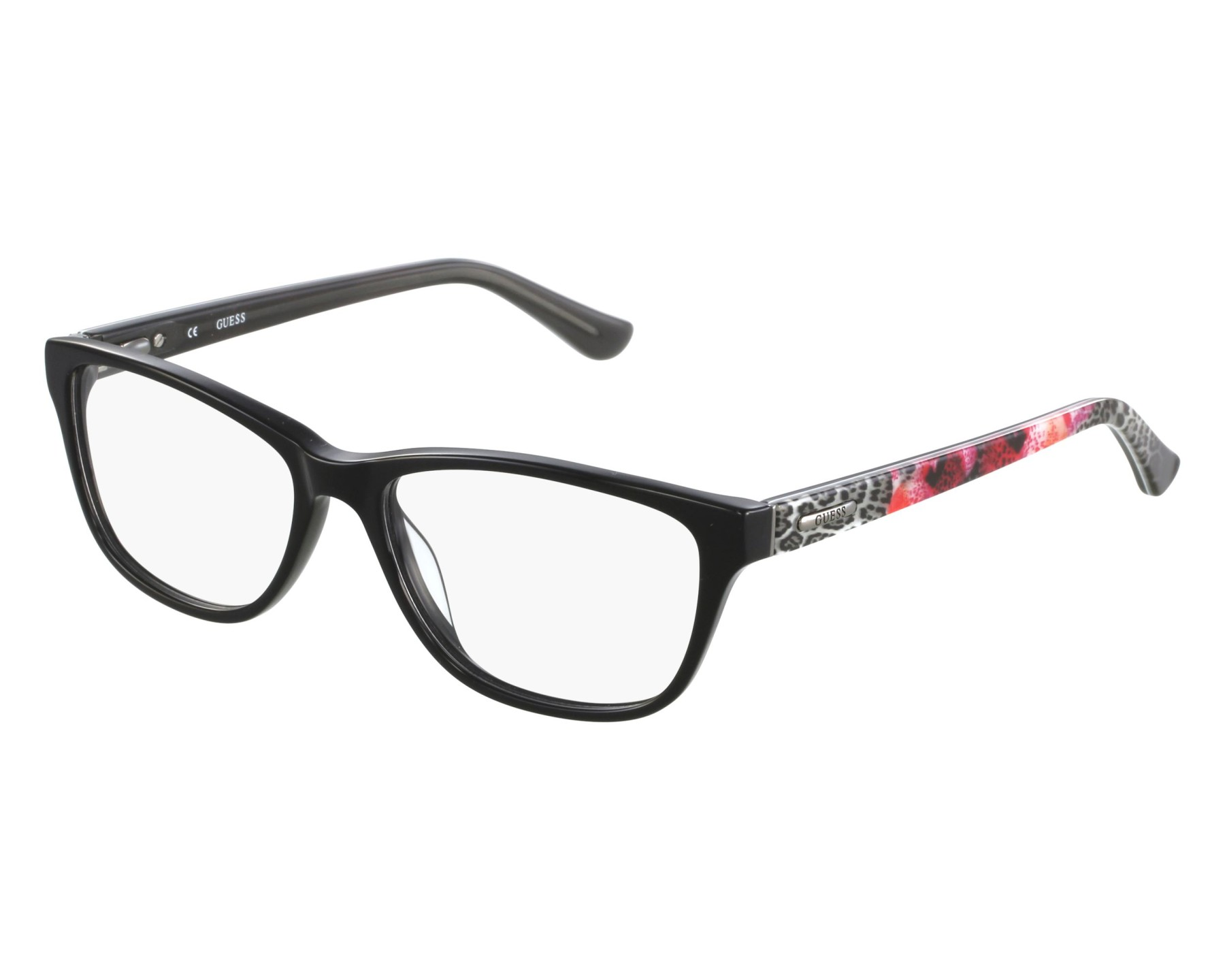 85792850b0 eyeglasses Guess GU-2513 001 - Black Mix front view