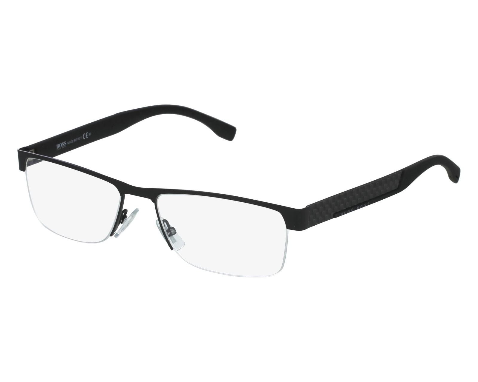 7294cce6a5c eyeglasses Hugo Boss BOSS-0644 HXJ 56-17 Black front view