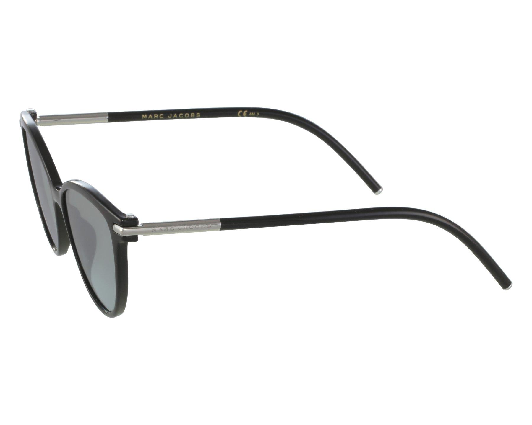 fae4df7c731a thumbnail Sunglasses Marc Jacobs MARC-47-S D28 GY - Black front view