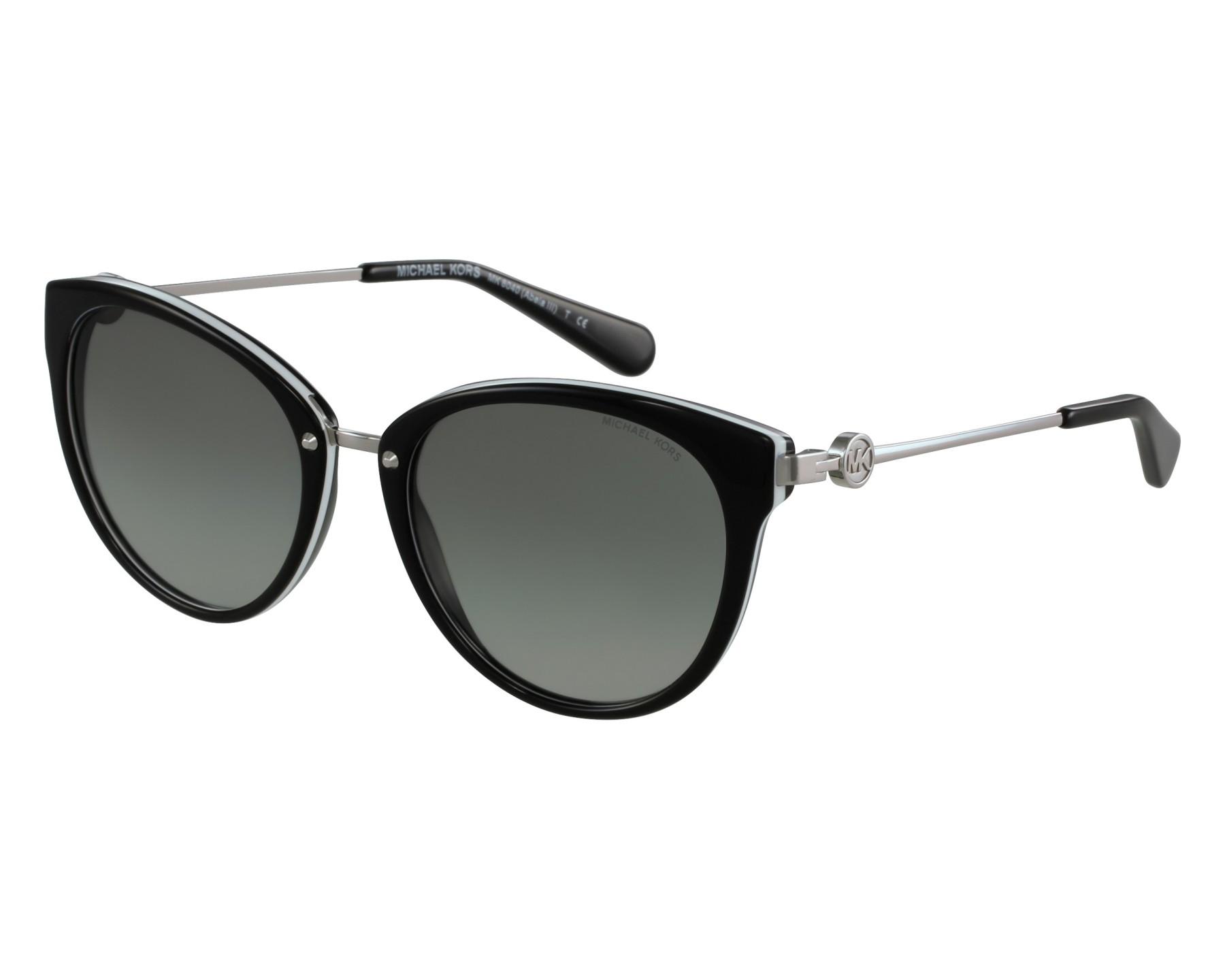 9c55d3f97f Sunglasses Michael Kors MK-6040 312911 55-19 Black Silver front view