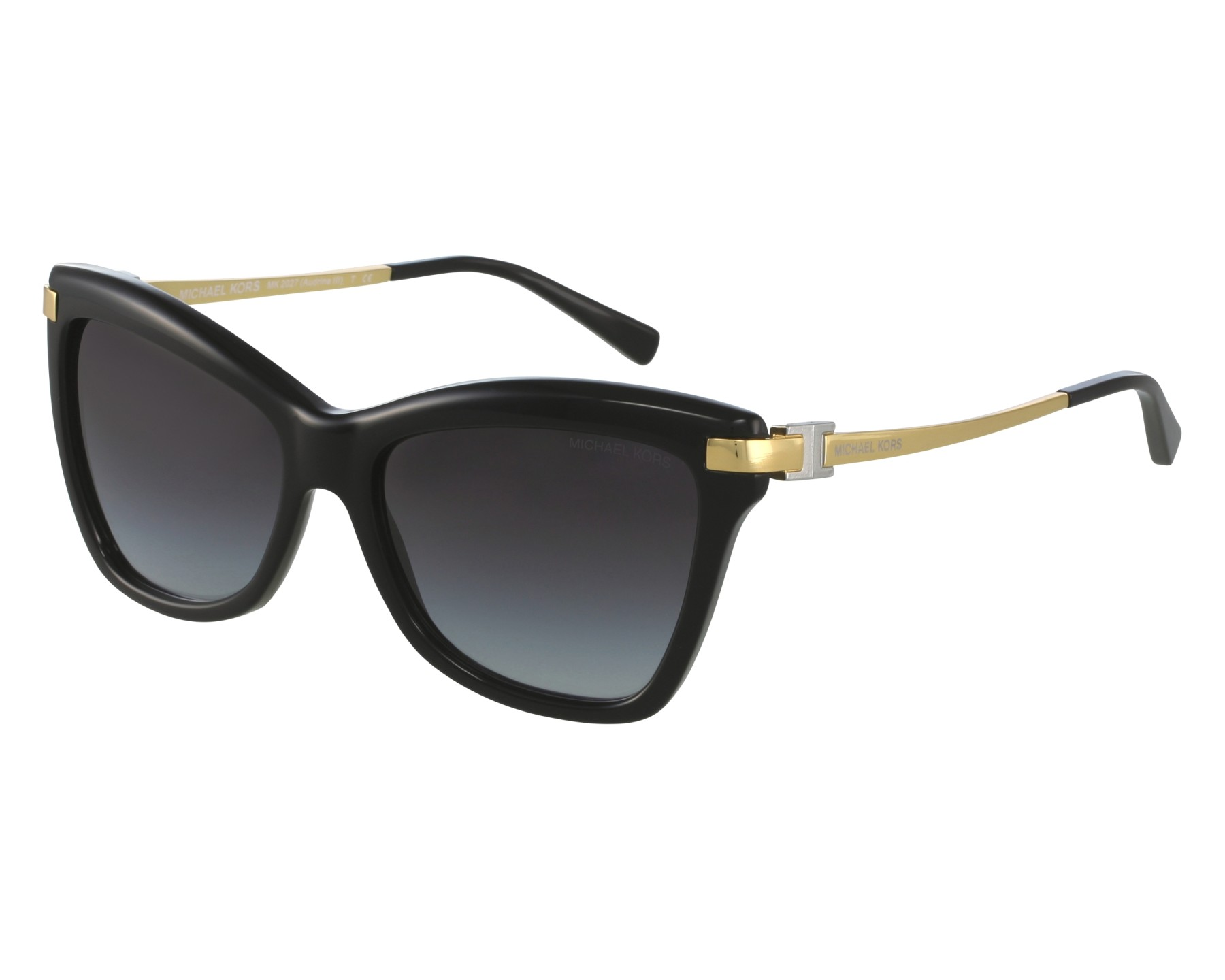 Sunglasses Michael Kors MK-2027 3171 11 - Black Gold front view 626dd4b890