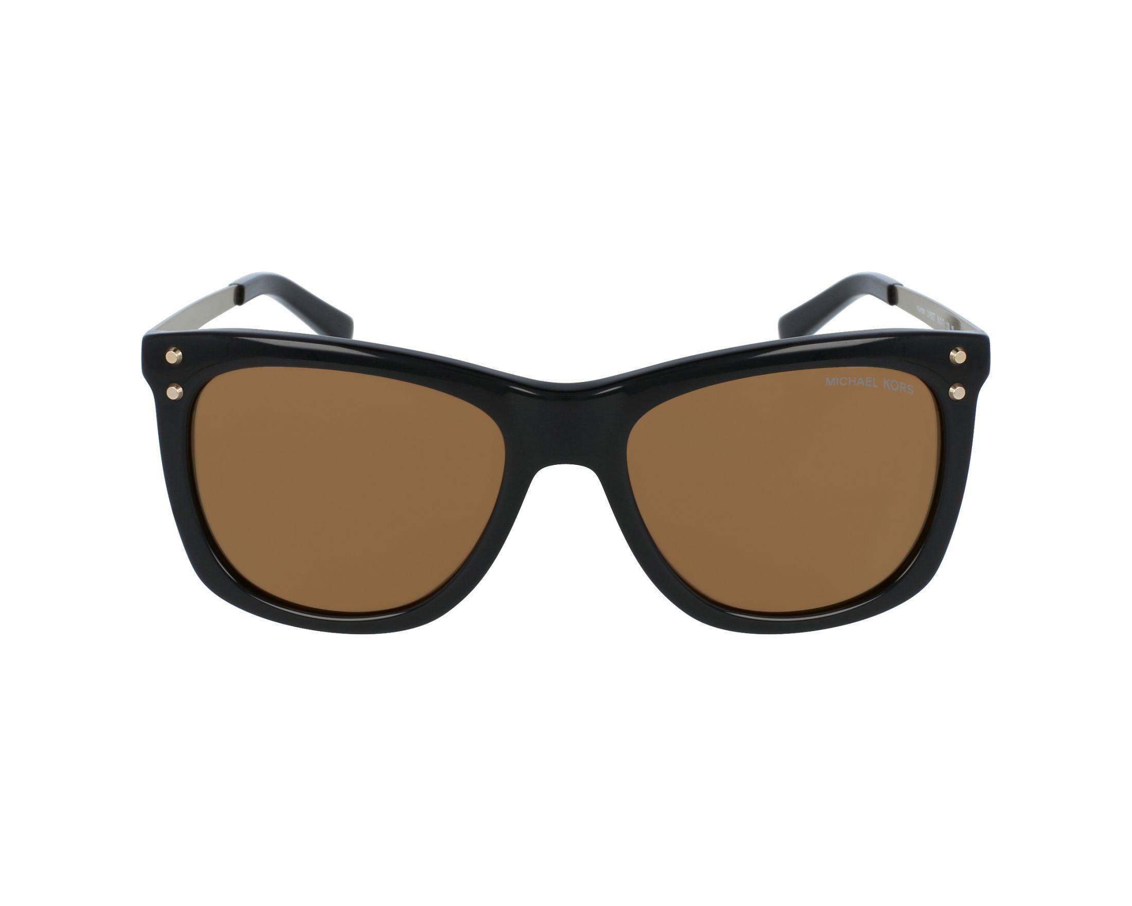 Womens Lex 31602T Sunglasses, Black/Goldmirrorpolarized, 54 Michael Kors