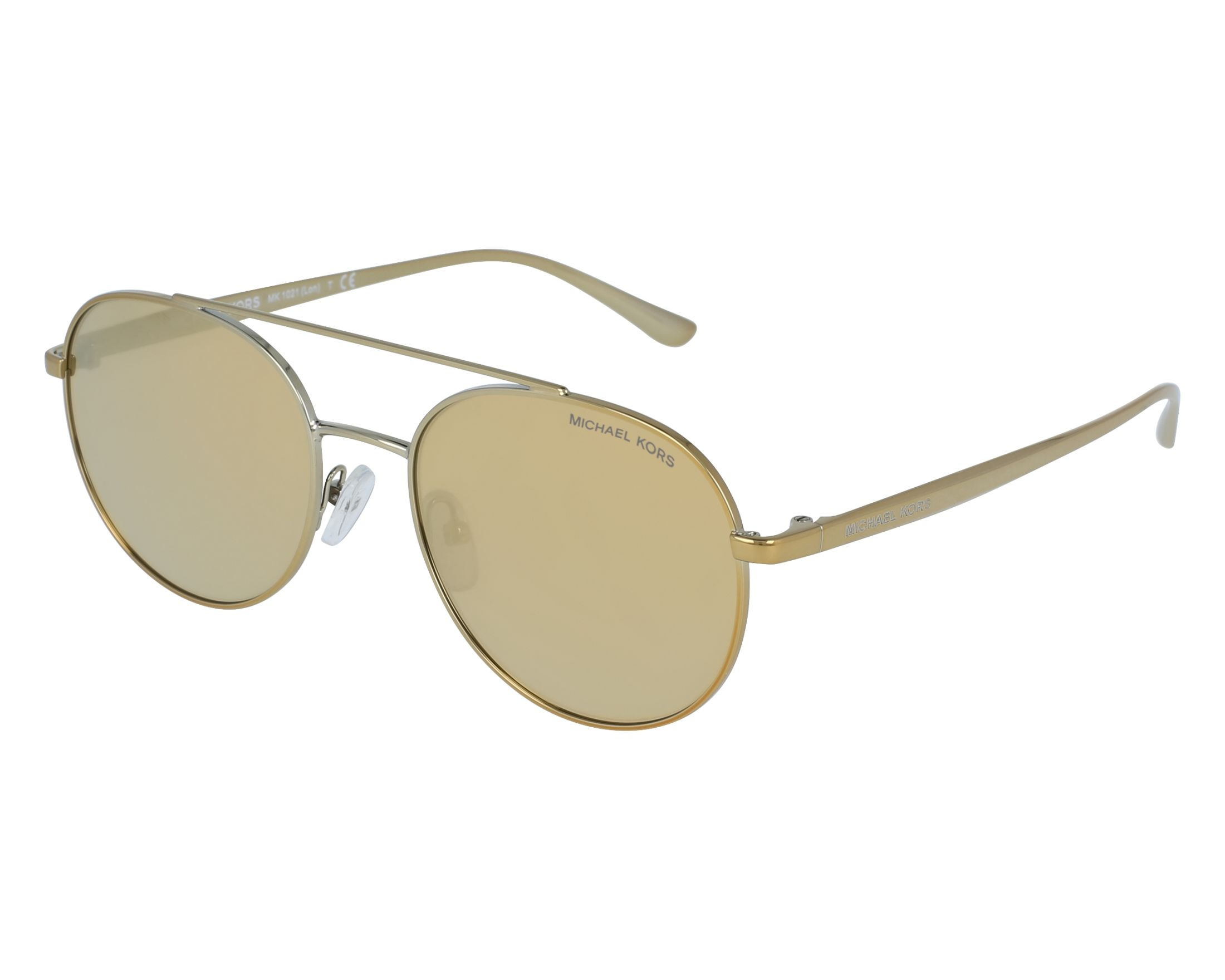 a079cf8ea01 Sunglasses Michael Kors MK-1021 11687P 53-18 Gold front view