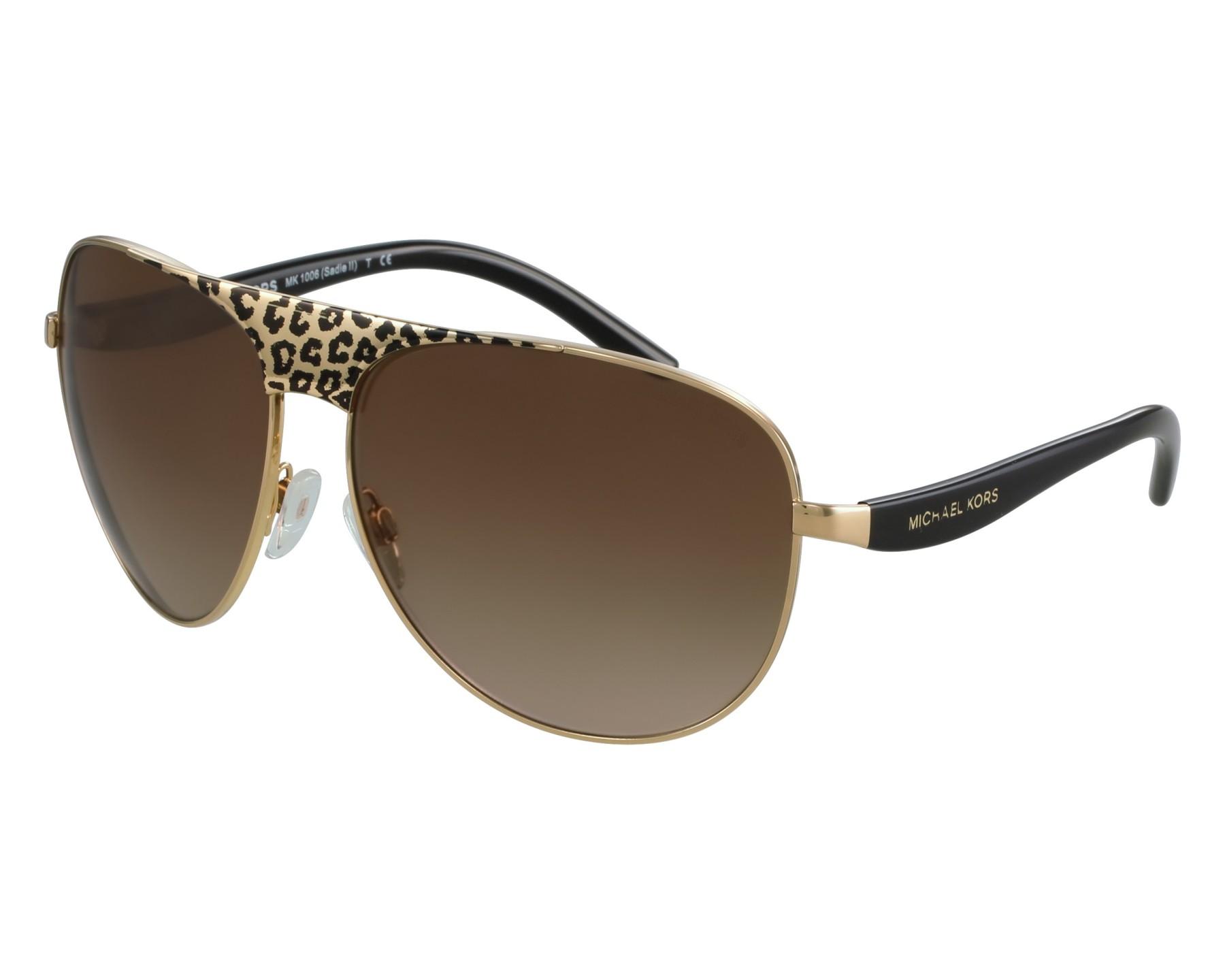 Sunglasses Michael Kors MK-1006 105713 62-14 Gold Leo front view 17b4abc61102