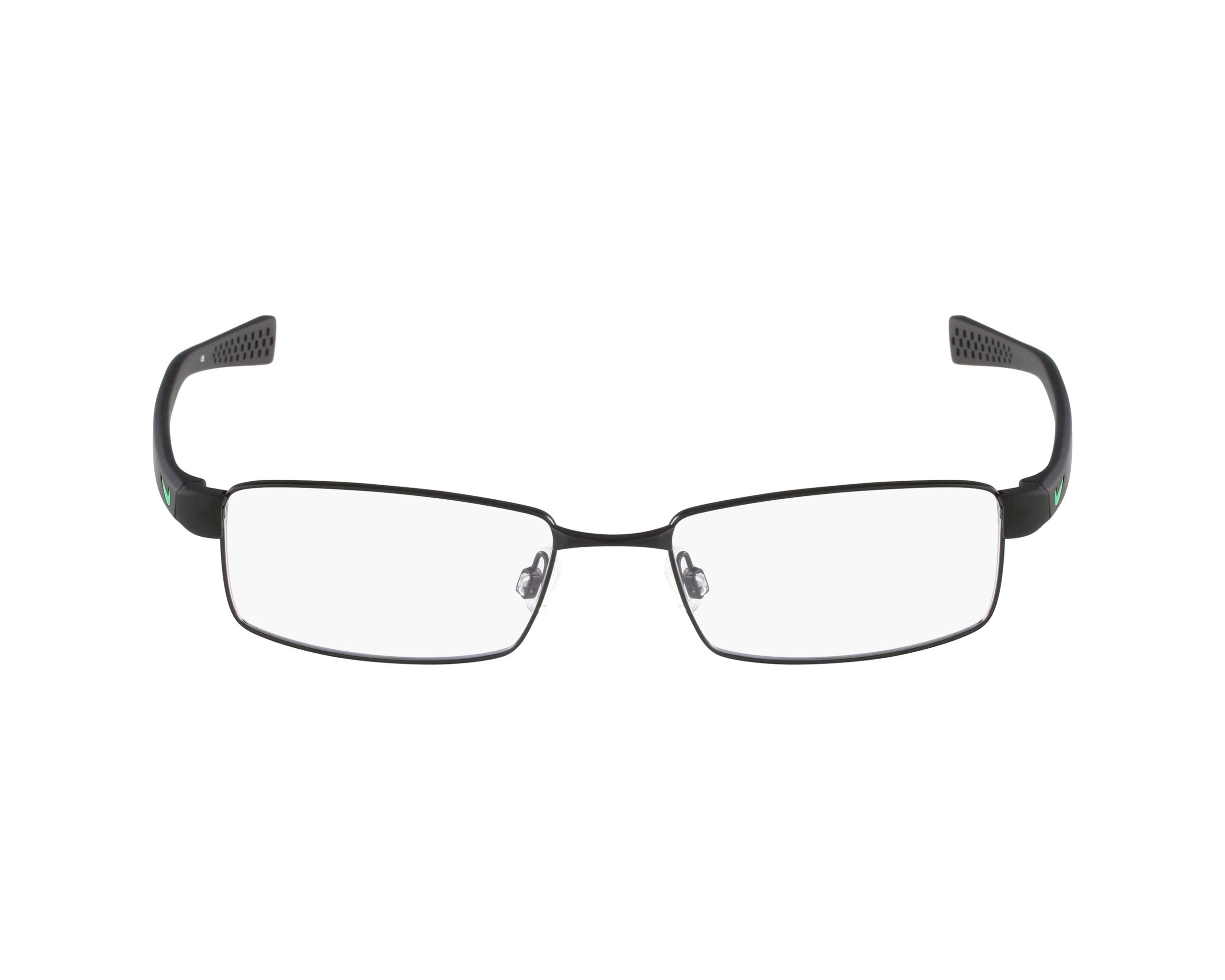 9fe0bff0569 eyeglasses Nike 8162 010 - Black Green profile view