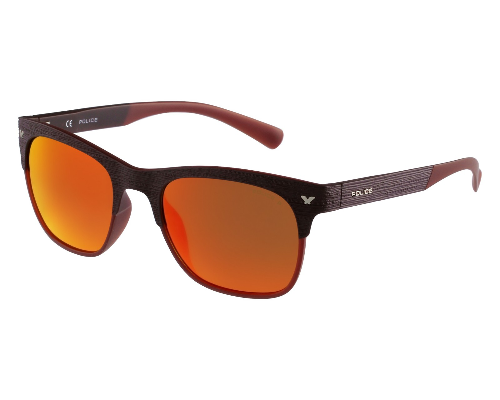 Sunglasses Police S-1950 NKJR - Brown front view df88fb97d55f