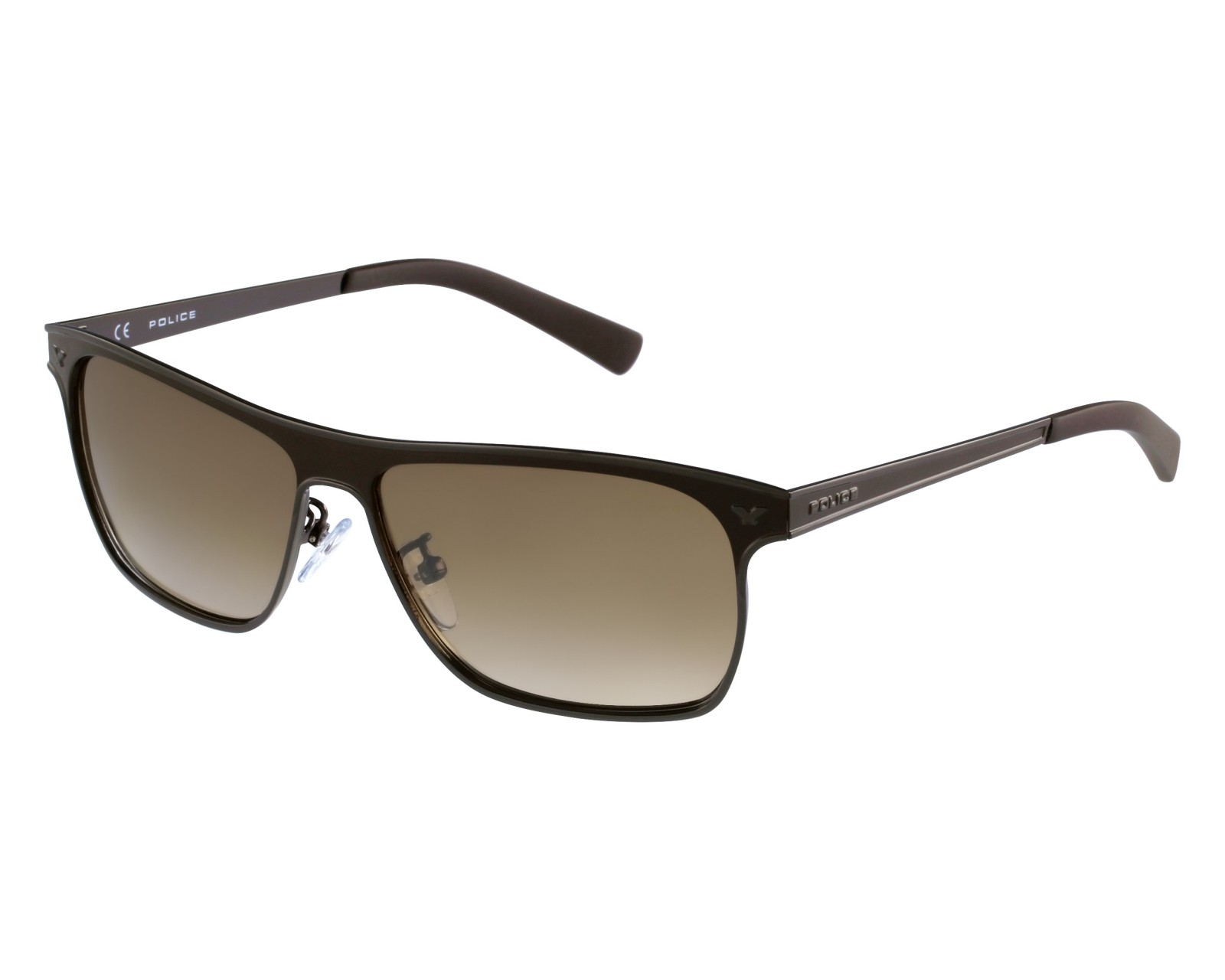 a106bf9b16e Sunglasses Police S-8948 596X 58-13 Brown Black front view