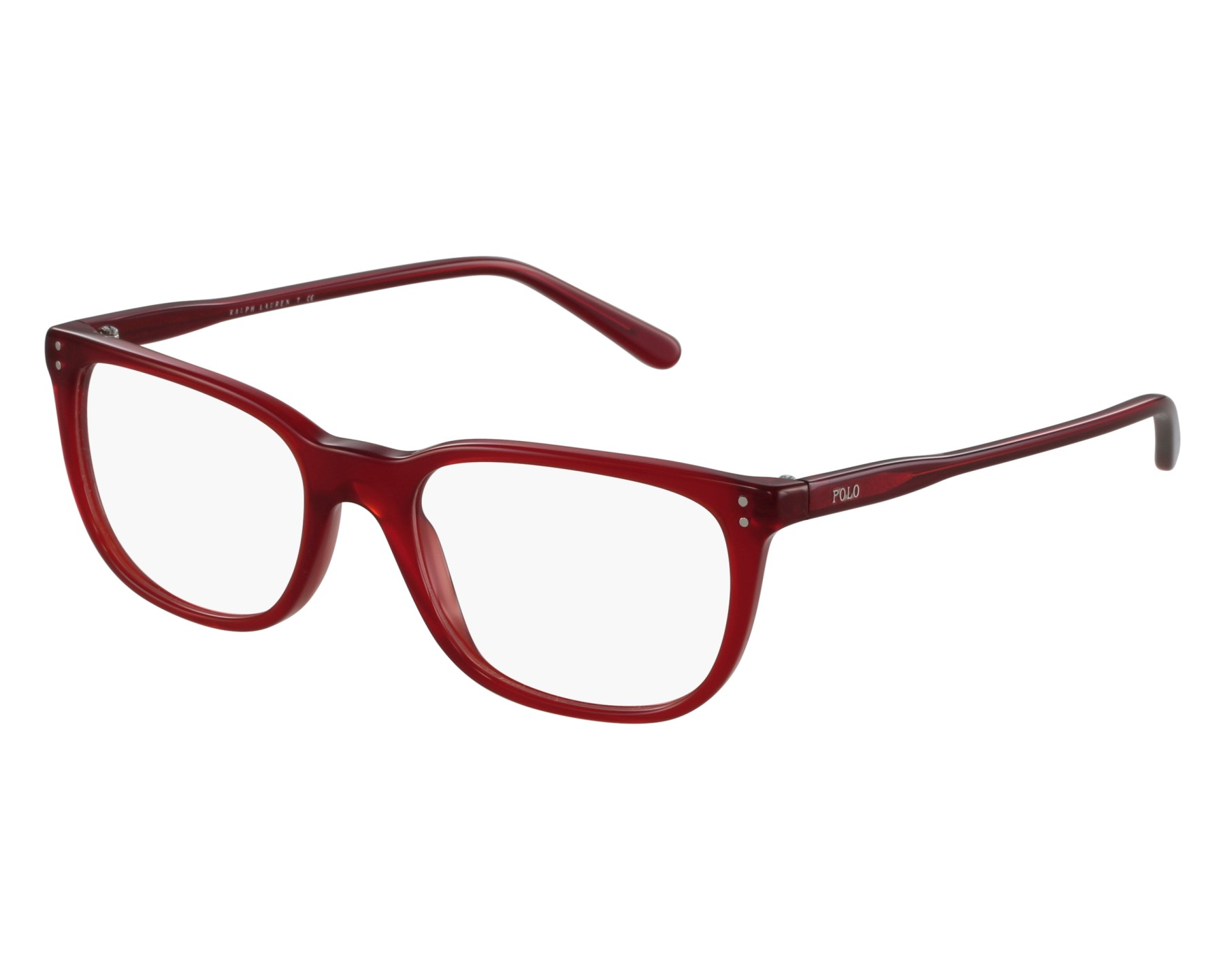 Polo PH2156 Eyeglass Frames 5458-51 Shiny Semi Trasparent Red PH2156-5458-51