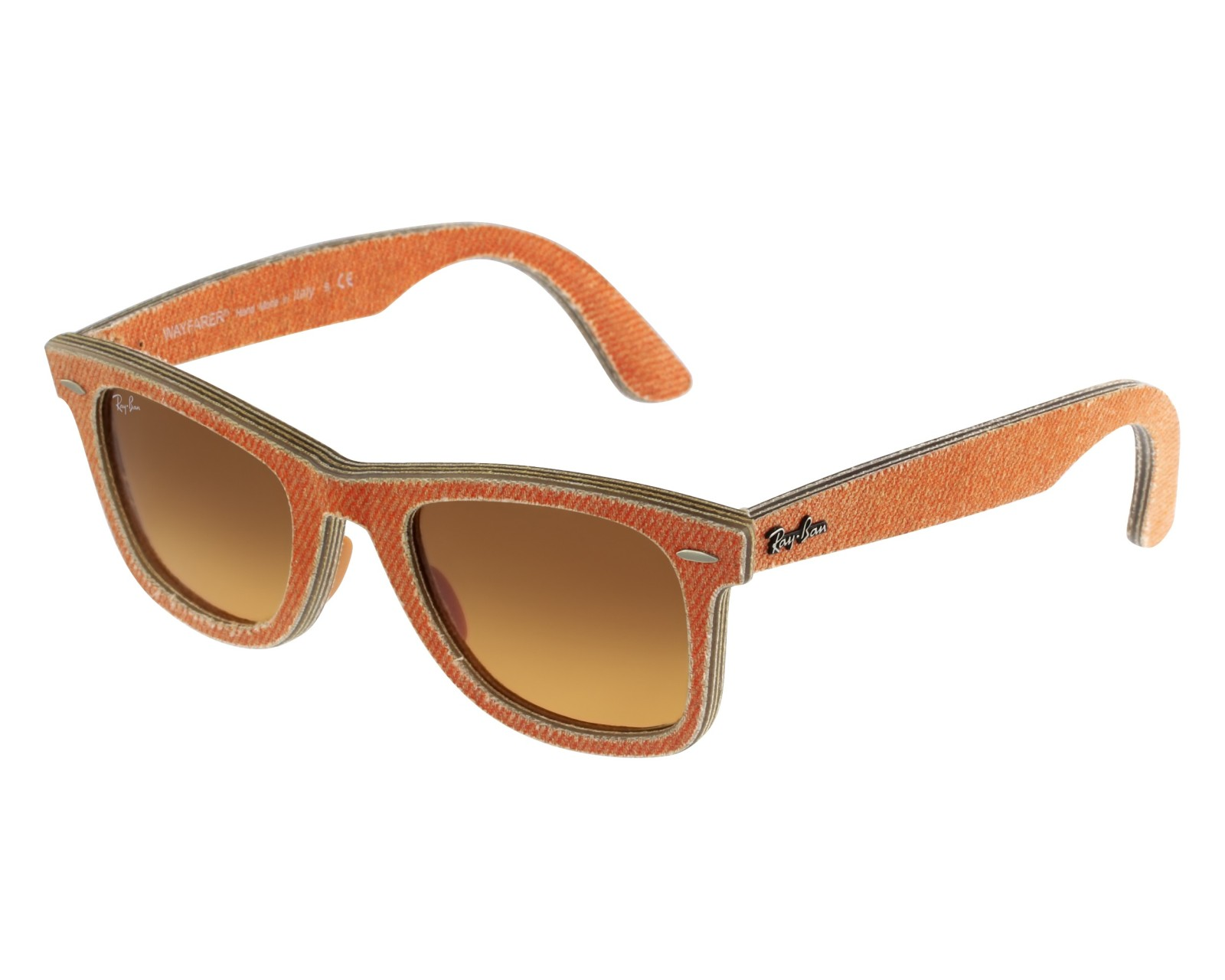 ray ban clubmaster orange beige