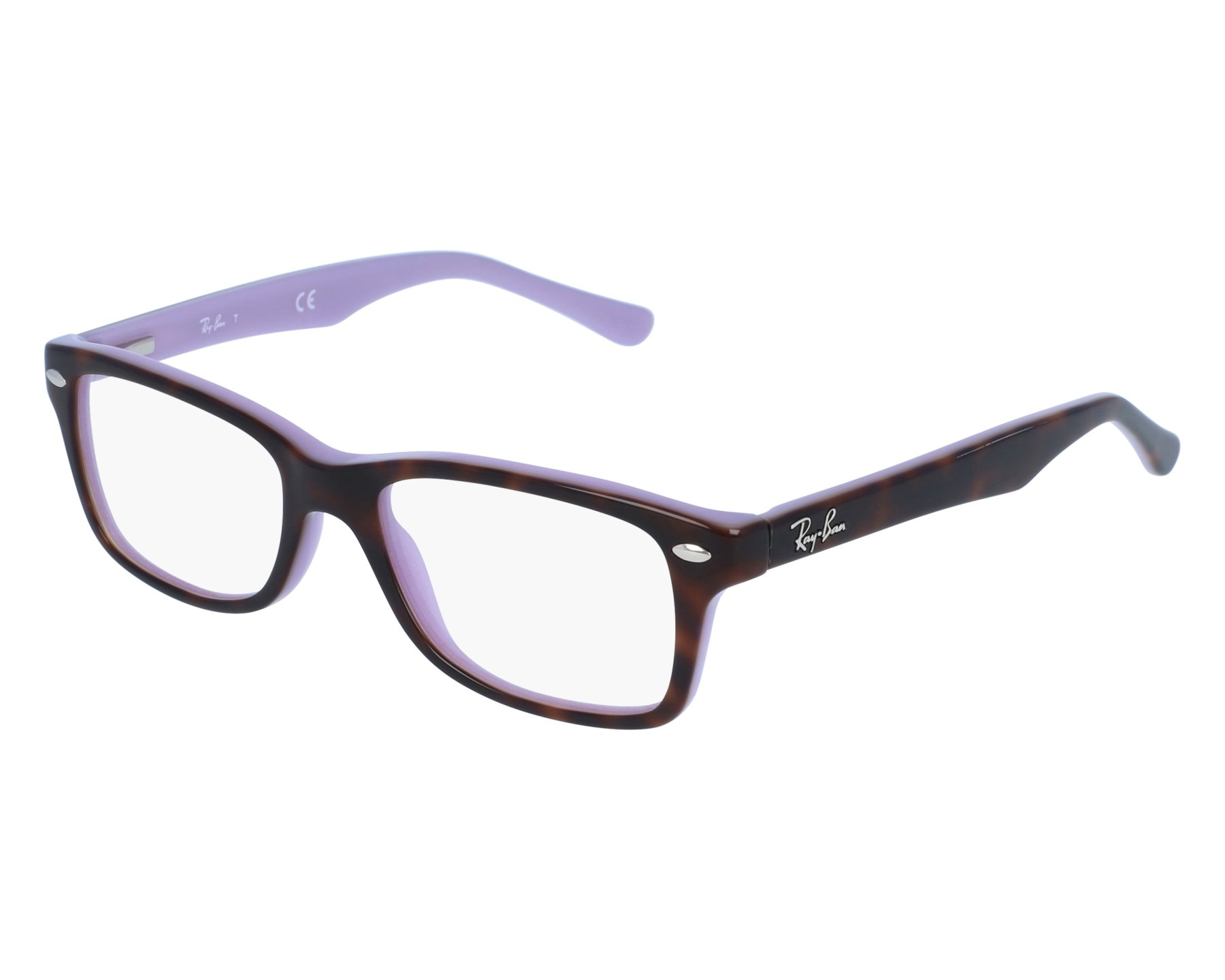 002228d595a2ca eyeglasses Ray-Ban RY-1531 3700 48-16 Tortoise Purple front view
