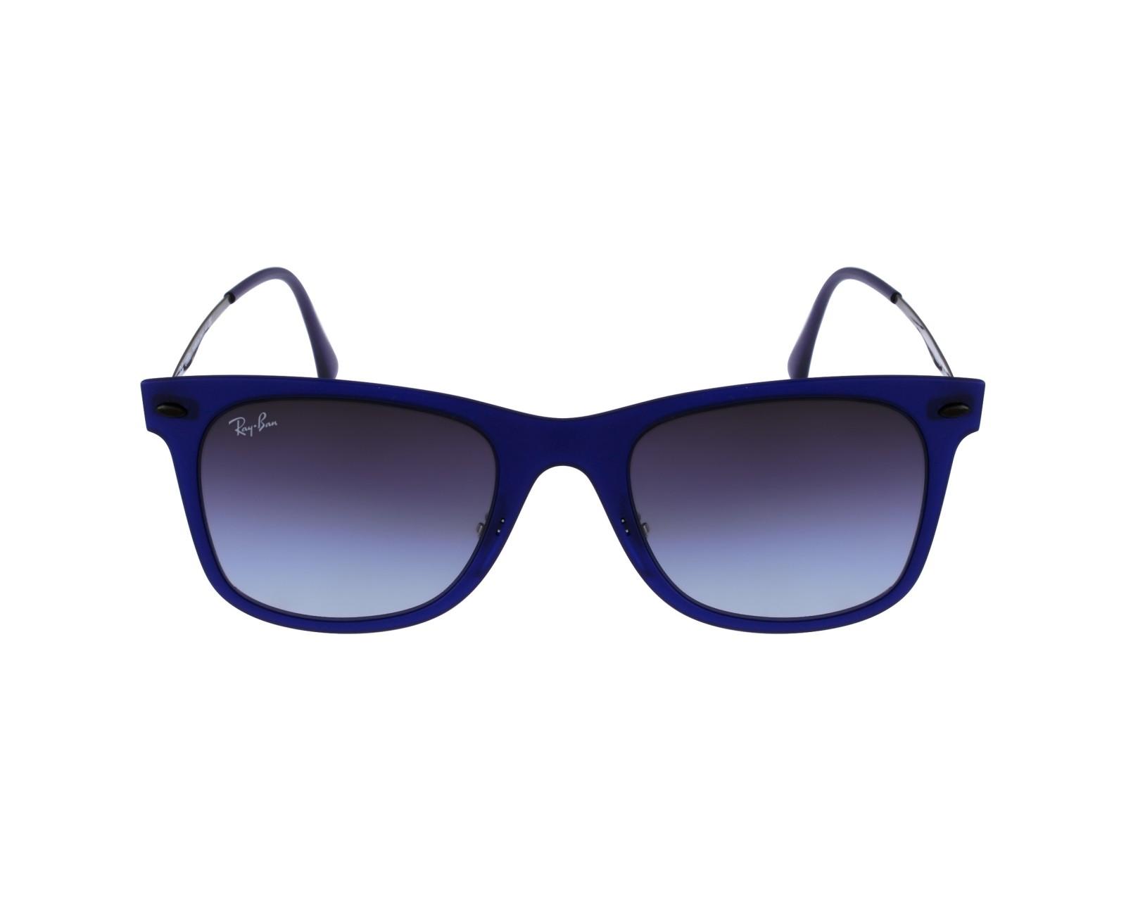 d2ed3e9581a thumbnail Sunglasses Ray-Ban RB-4210 895 8G - Blue Silver profile view