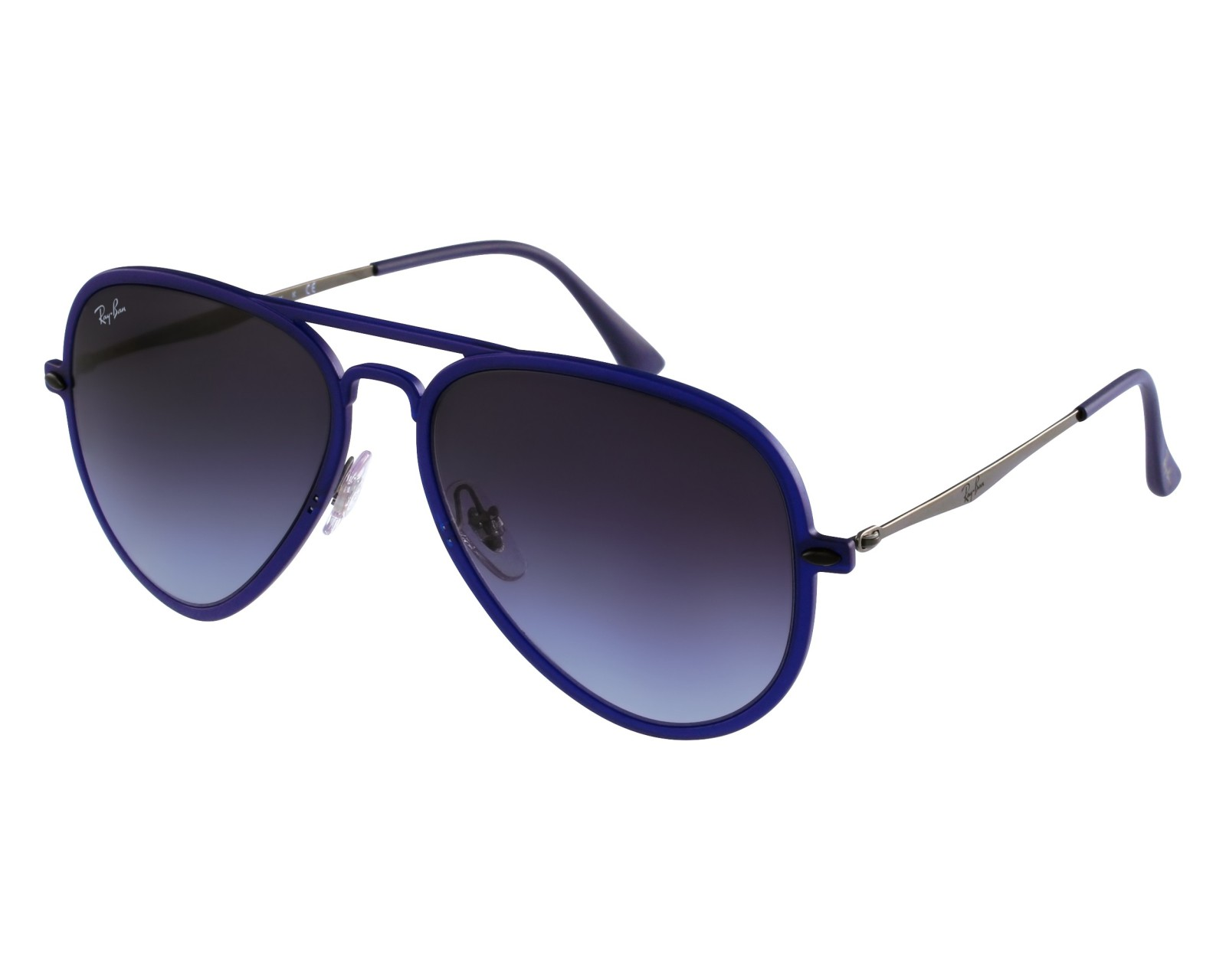 4442533cff thumbnail Sunglasses Ray-Ban RB-4211 895 8G - Blue Silver front view