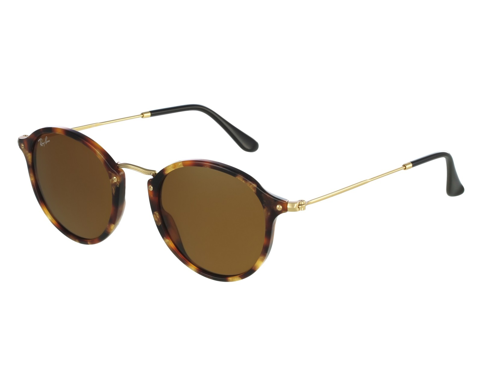 559606b0e5 Sunglasses Ray-Ban RB-2447 1160 49-21 Brown Gold front view