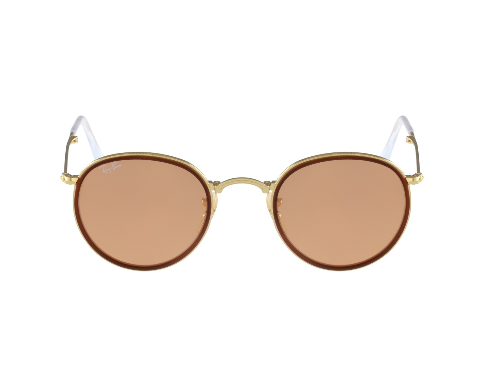 ee20a97a67 thumbnail Sunglasses Ray-Ban RB-3517 001 Z2 - Gold Brown profile view