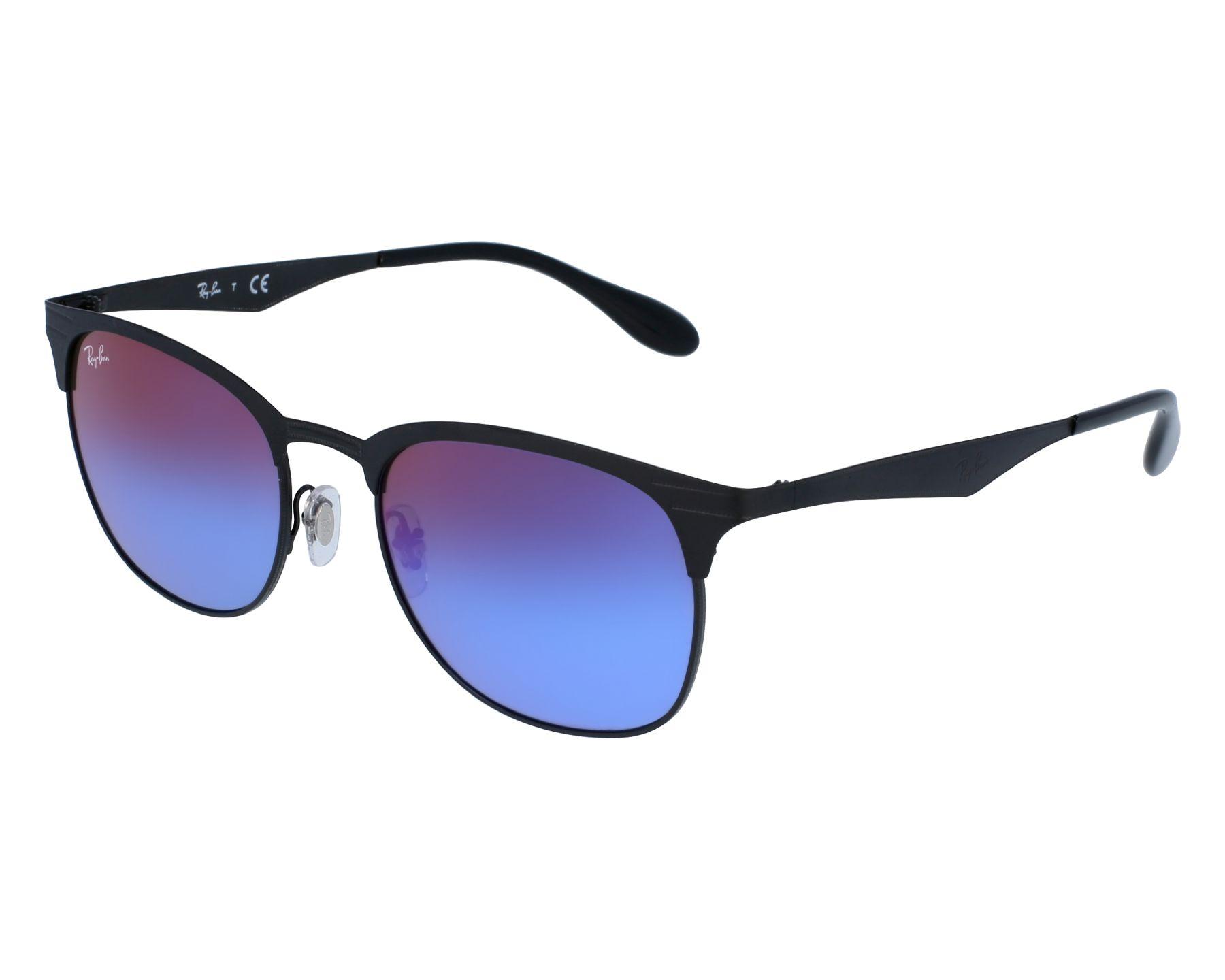 1bf787b65b2 thumbnail Sunglasses Ray-Ban RB-3538 186 B1 - Black front view