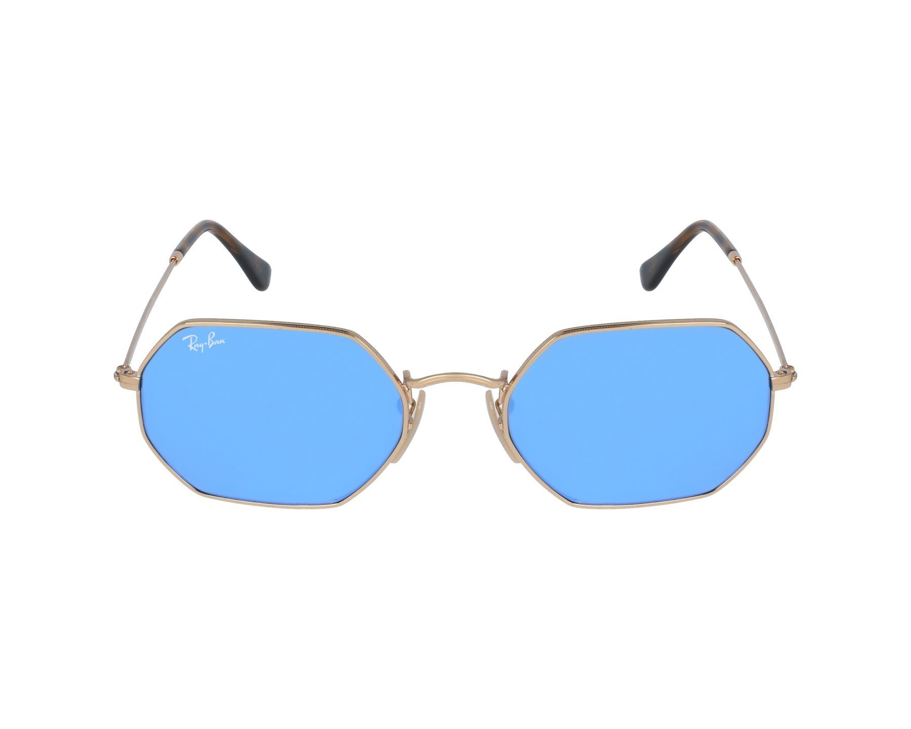 aa2bf3a3a61 thumbnail Sunglasses Ray-Ban RB-3556 001 9O - Gold profile view