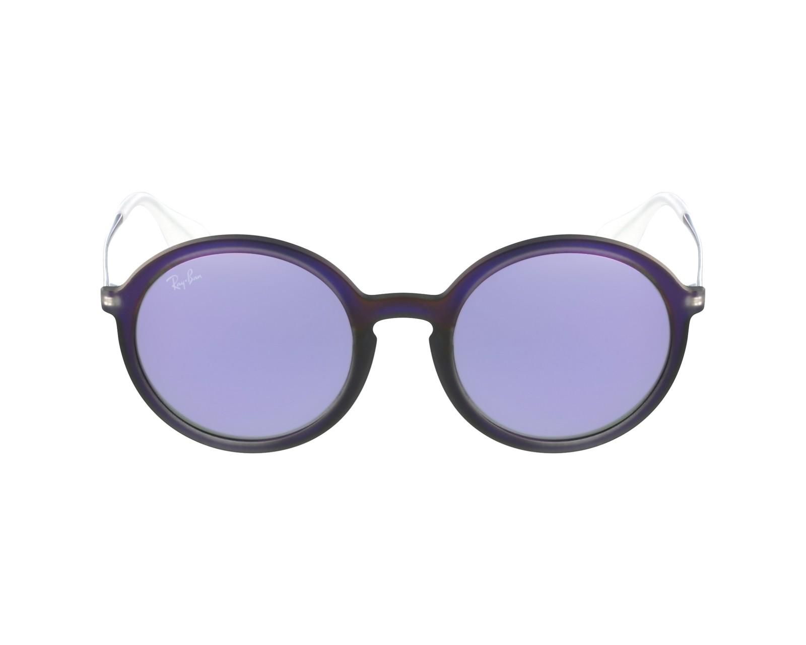 44127c71a0 thumbnail Sunglasses Ray-Ban RB-4222 6168 4V - Purple Gun profile view