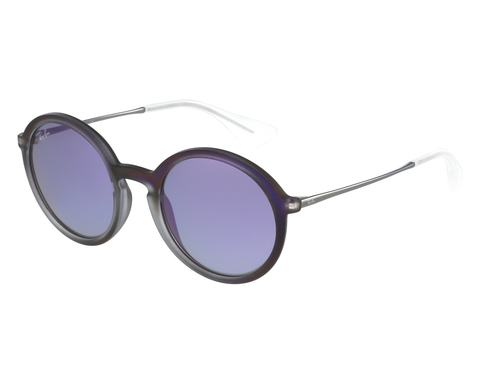 505d3ec827 thumbnail Sunglasses Ray-Ban RB-4222 6168 4V - Purple Gun front view