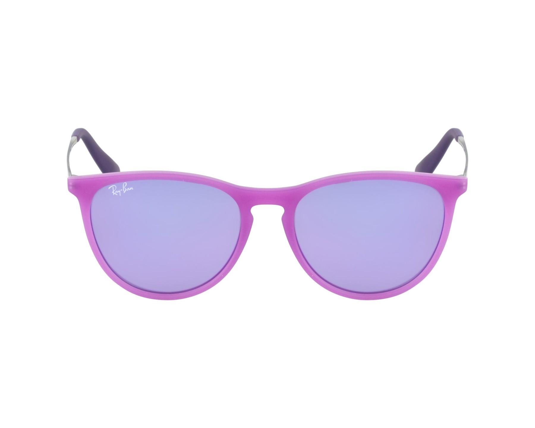 872e89dbc11 thumbnail Sunglasses Ray-Ban RJ-9060-S 70084V - Purple Silver profile view