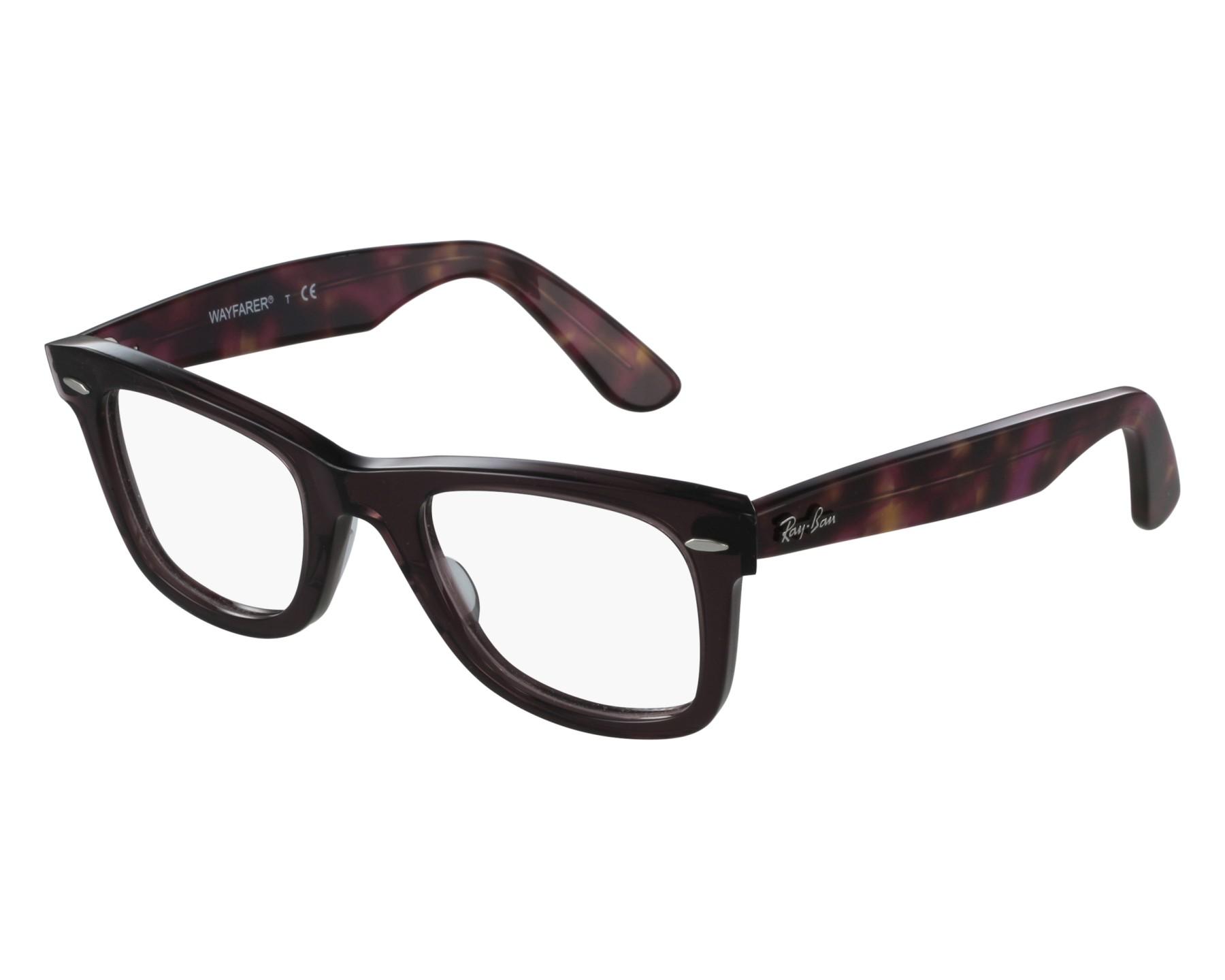 624e80676d eyeglasses Ray-Ban RX-5121 5628 50-22 Plum Havana front view