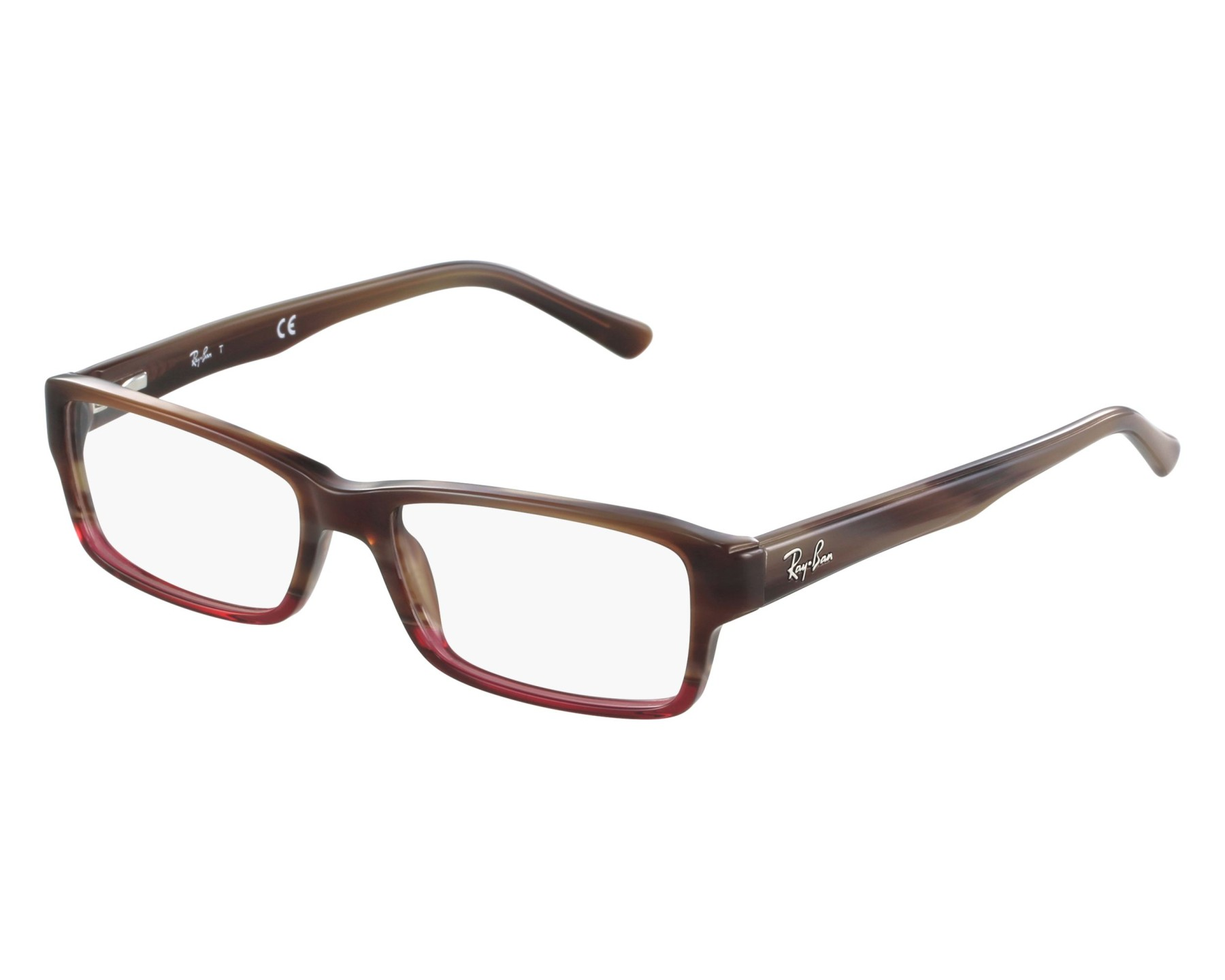b84d16346a3 eyeglasses Ray-Ban RX-5169 5541 54-16 Brown Red front view