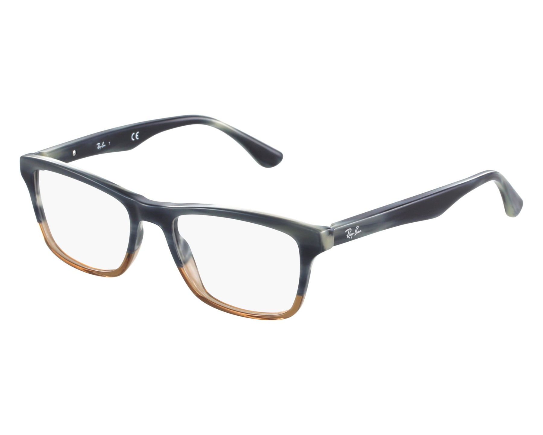 6e111a32b7 eyeglasses Ray-Ban RX-5279 5543 53-18 Blue Brown front view