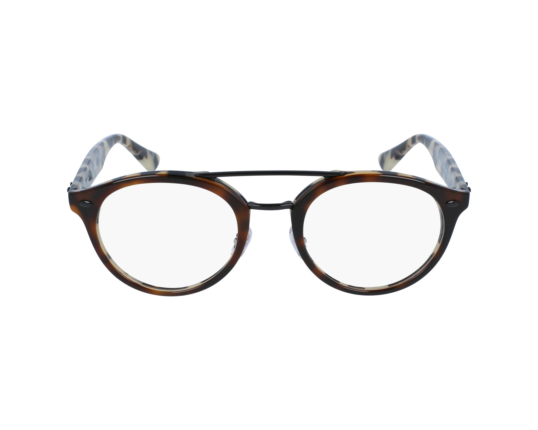 d183d451d718ff eyeglasses Ray-Ban RX-5354 5676 48-21 Havana Black profile view