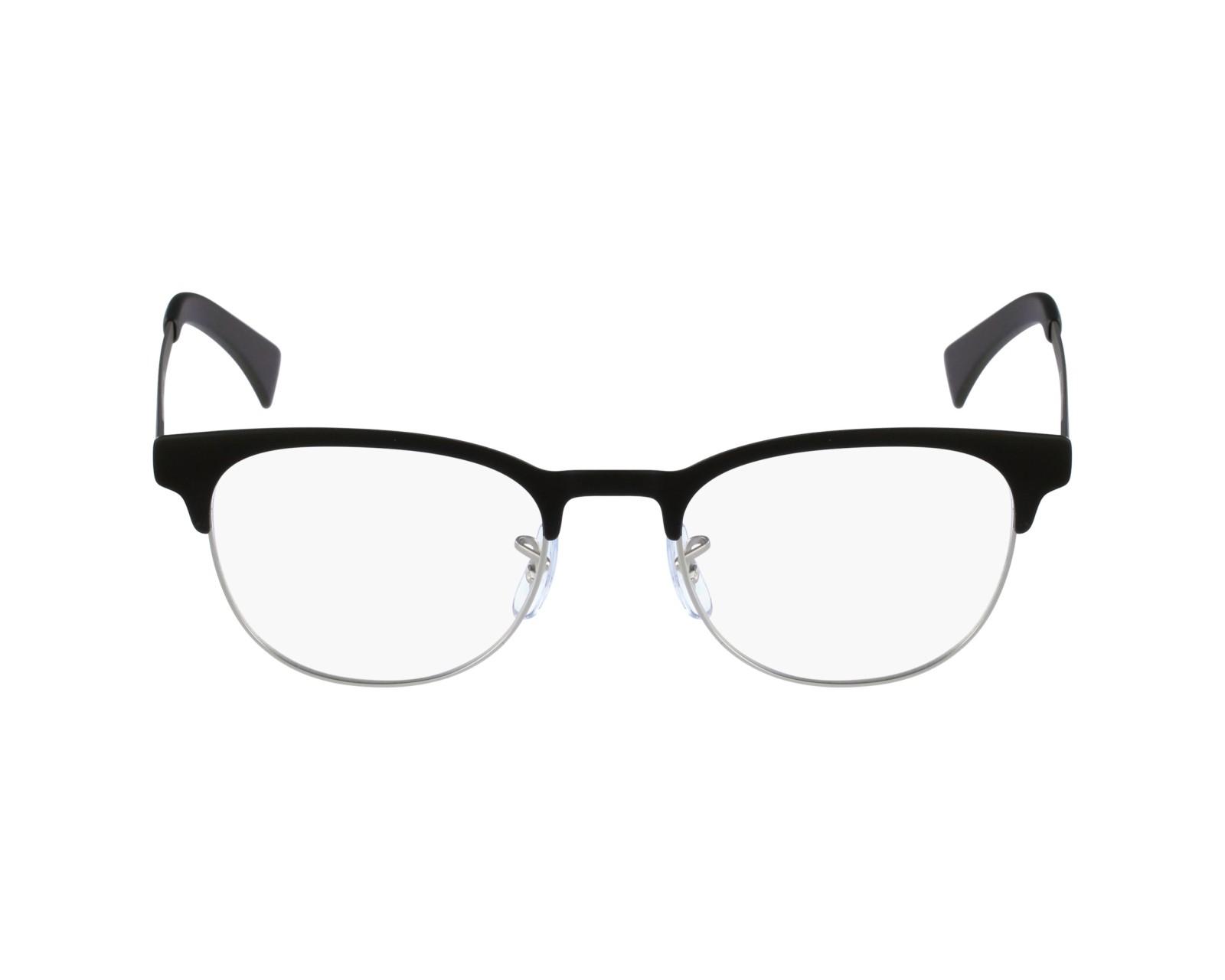 e2bd5bee404 eyeglasses Ray-Ban RX-6317 2832 49-20 Black Silver profile view