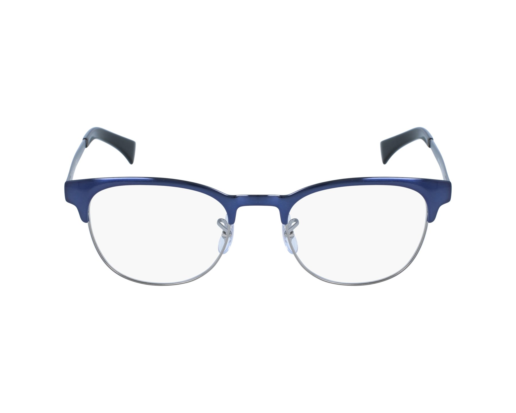80fc1e7005 eyeglasses Ray-Ban RX-6317 2863 49-20 Blue Silver profile view